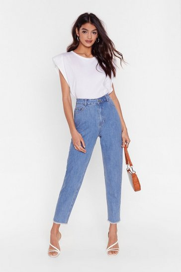 Light blue Medium Wash High-Waisted Jeans