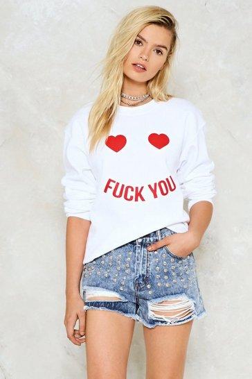 Cream Fuck You Sweatshirt
