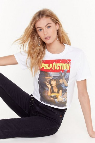 Womens White Pulp Fiction Tee
