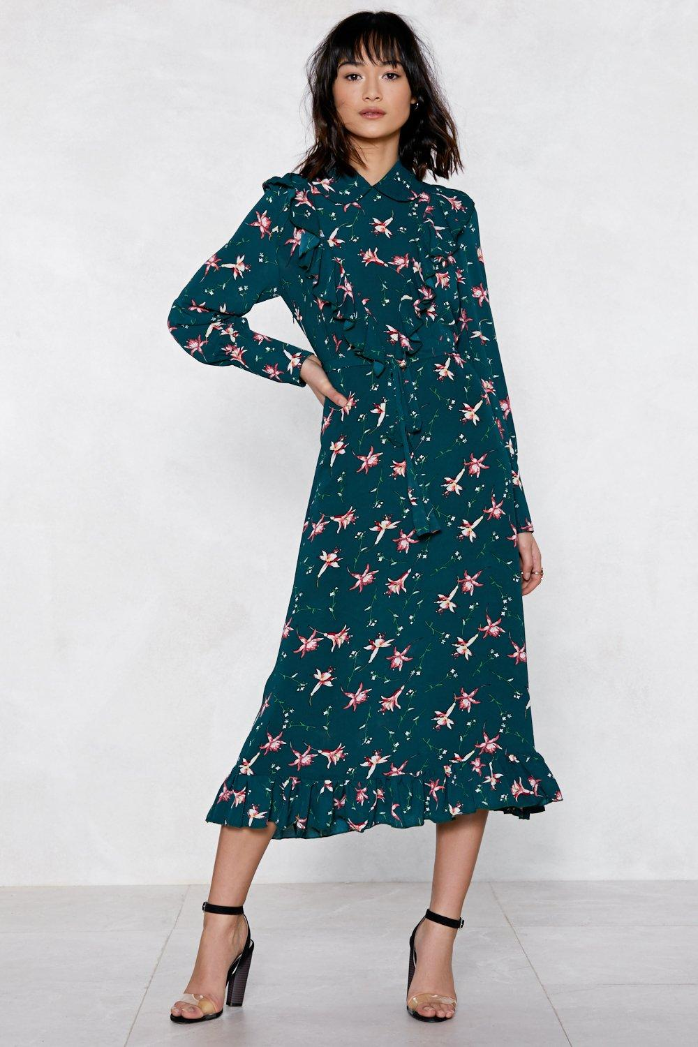 fdb8f4ae54c65 You'll Grow a Long Way Floral Dress | Shop Clothes at Nasty Gal!