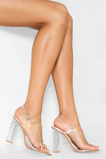 Rose gold Let's Be Clear Heel