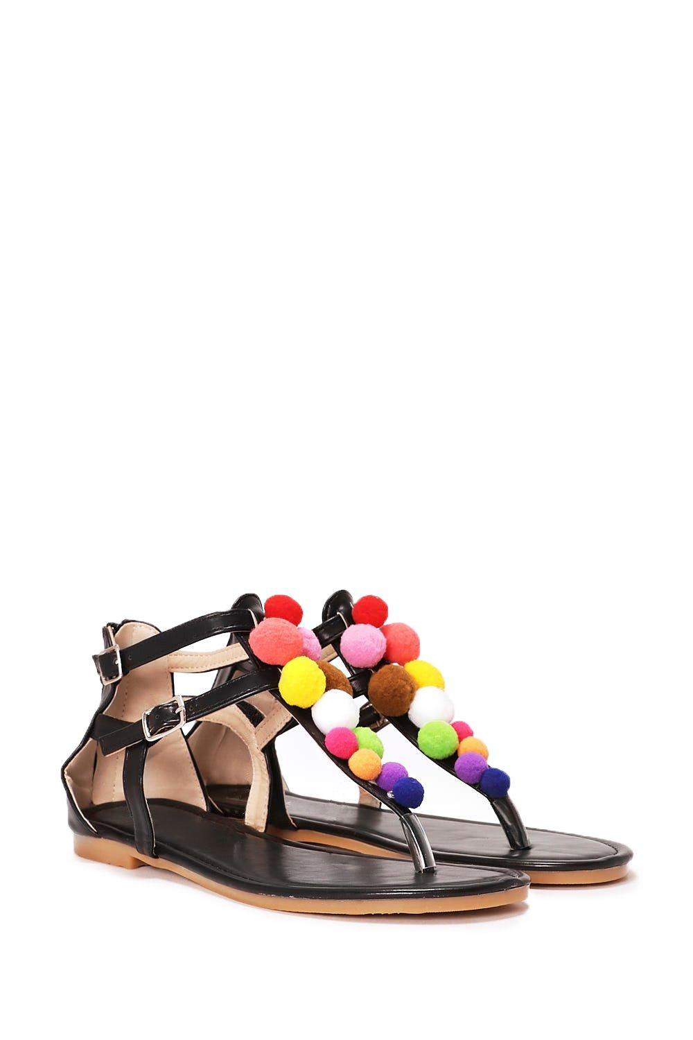 0bf2d14024c Have a Ball Pom Pom Sandal | Shop Clothes at Nasty Gal!