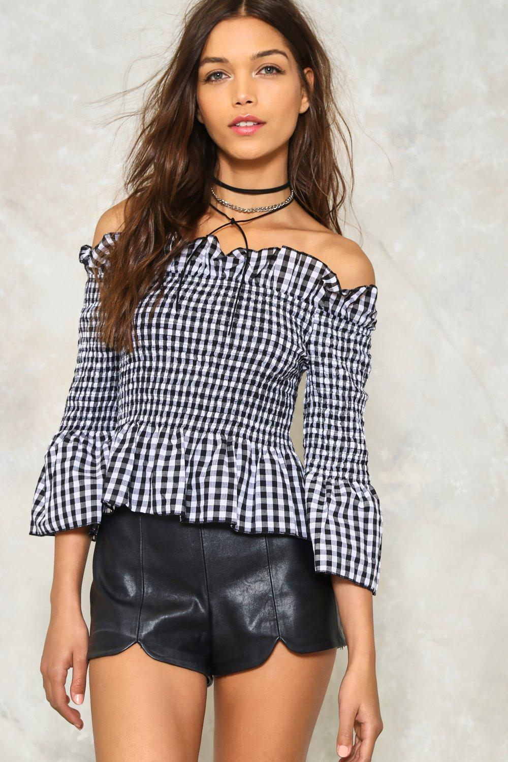 d9aeae44c9c Square Up Off-the-Shoulder Gingham Top | Shop Clothes at Nasty Gal!