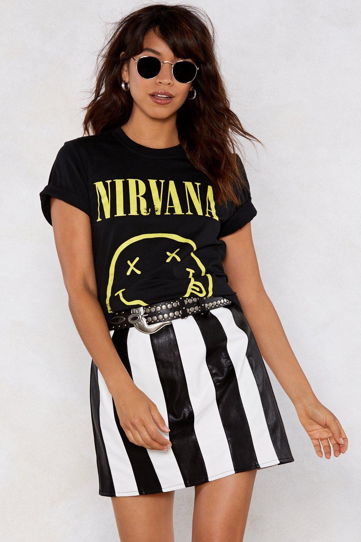 nirvana t shirt girl