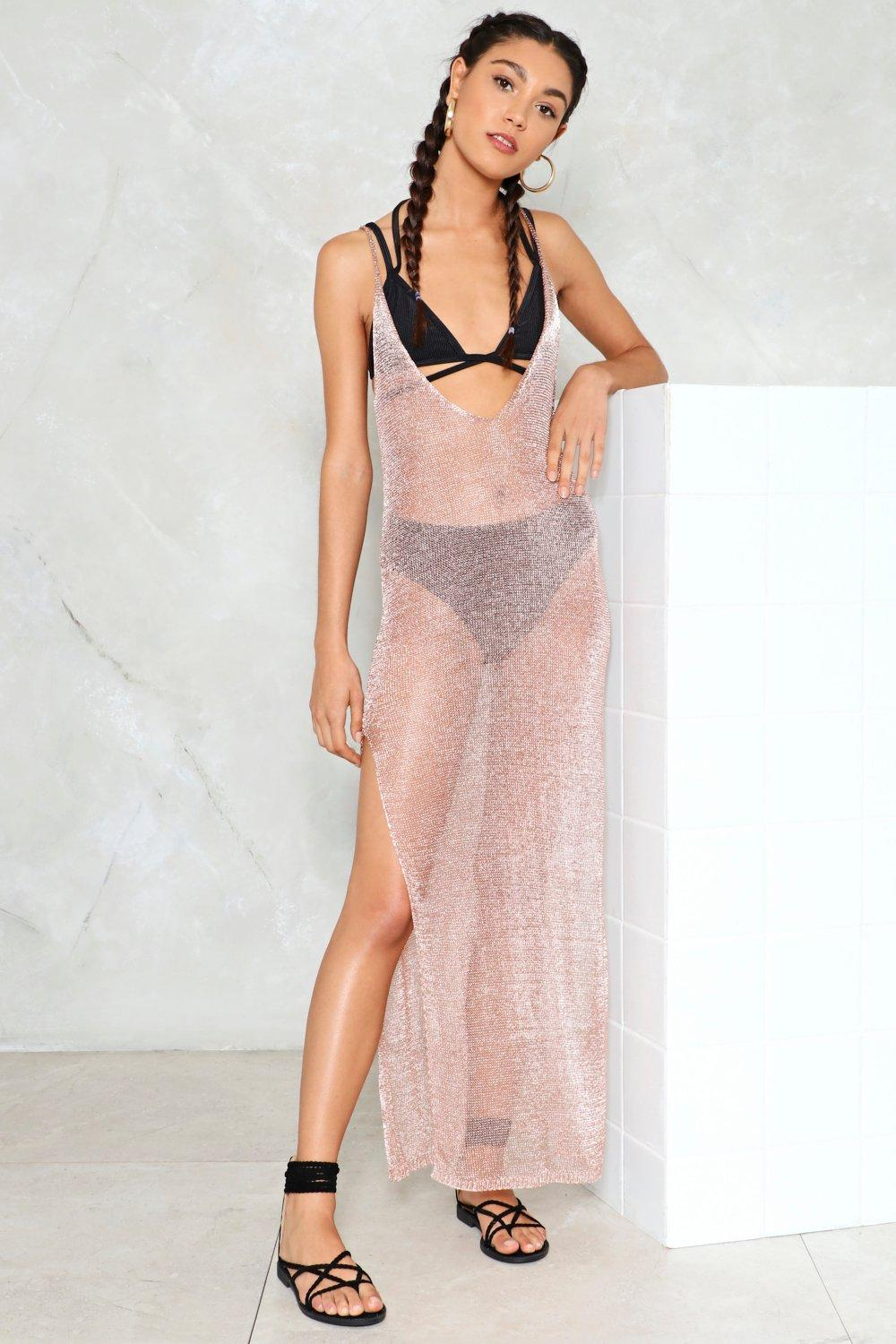 c90c3559bcceaf Metallic Yarn Maxi Beach Cover Up | Shop Clothes at Nasty Gal!