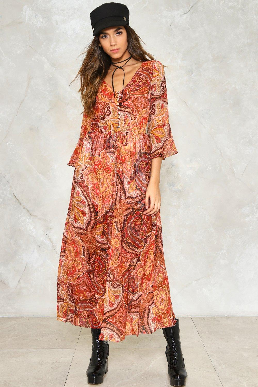 a25ae5f1e16 Womens Rust The Price You Paisley Maxi Dress. Hover to zoom