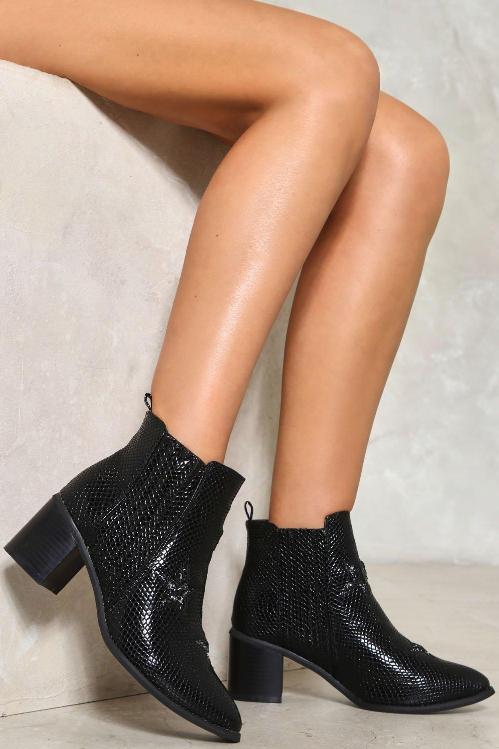 a0500b2f39 Crocodile Rock Faux Leather Ankle Boot