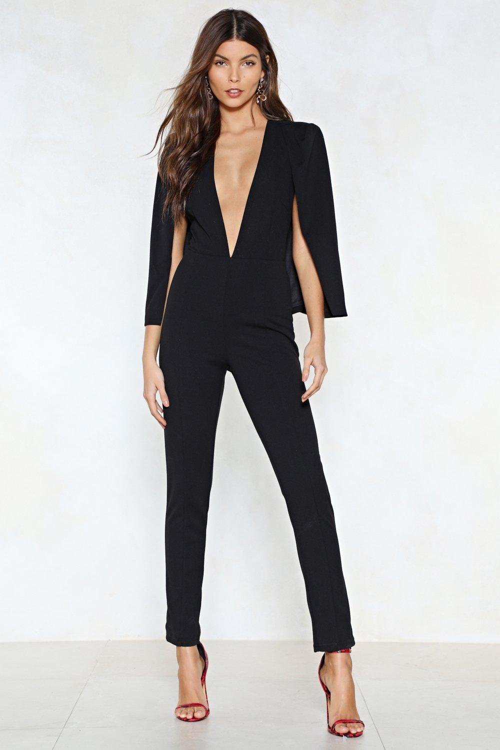 c0c90655f8b9 Cape It Together Tailored Jumpsuit
