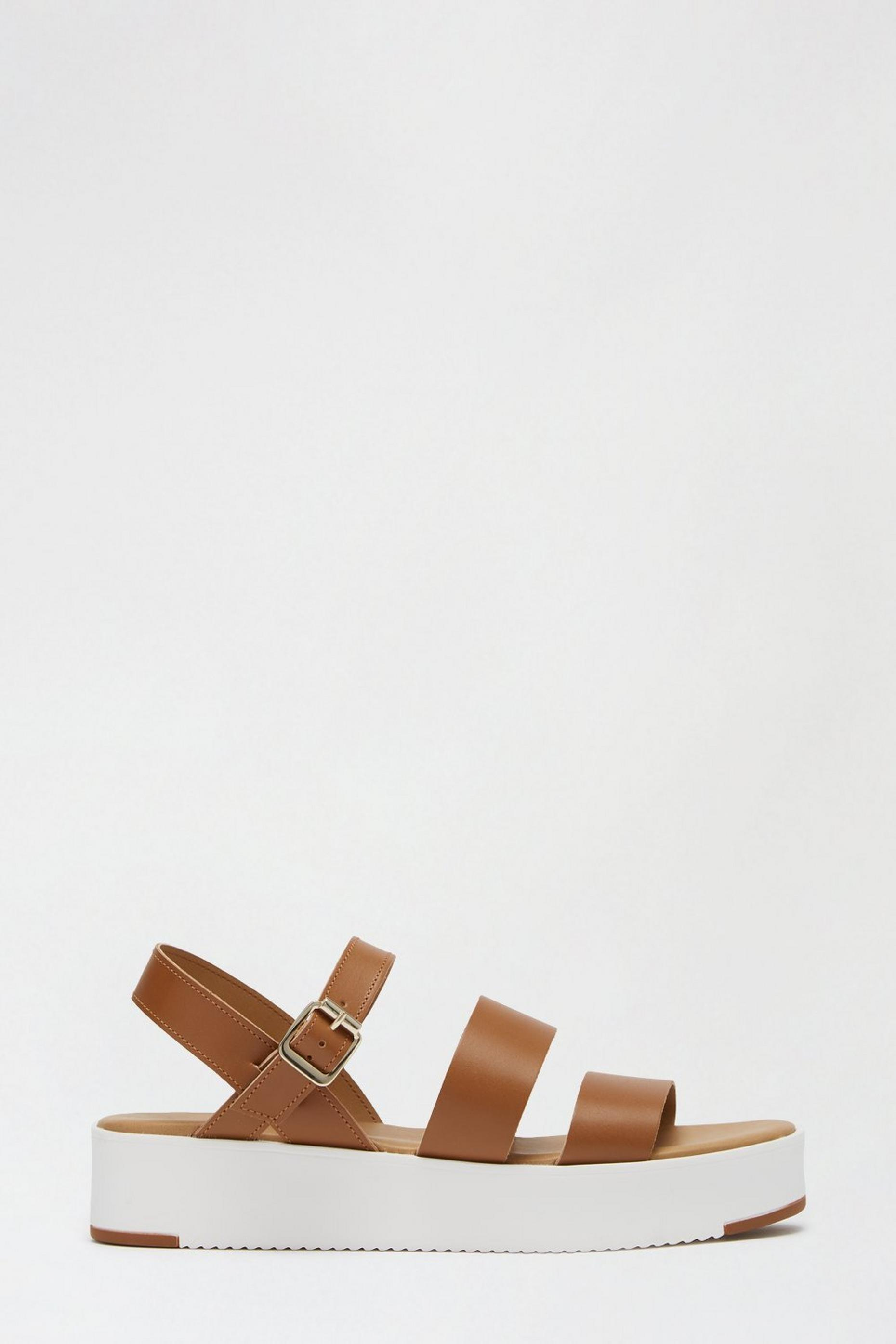Tan Leather Rolo Strappy Sports Sandal