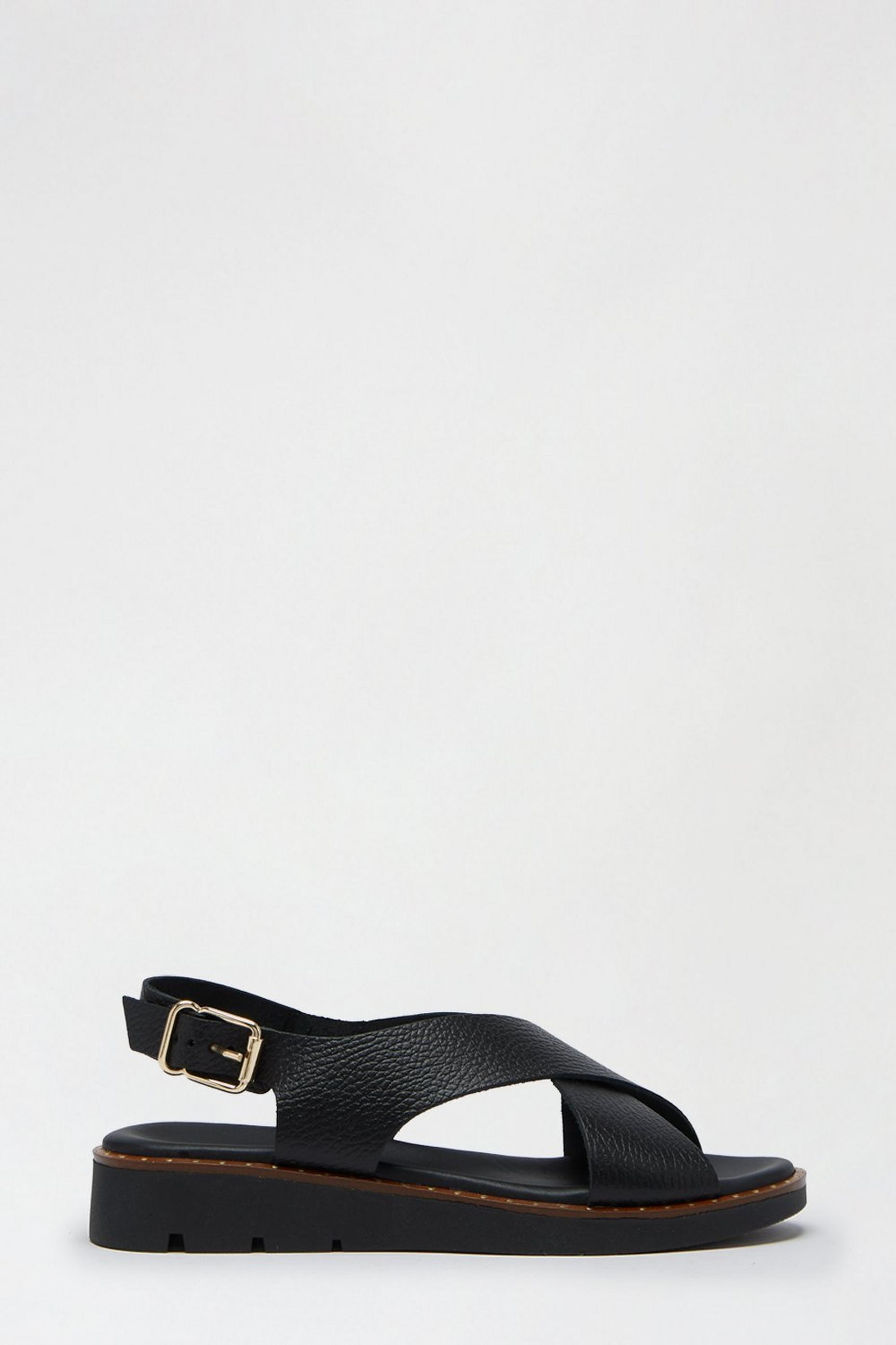Black Leather Janey Slingback Sandal