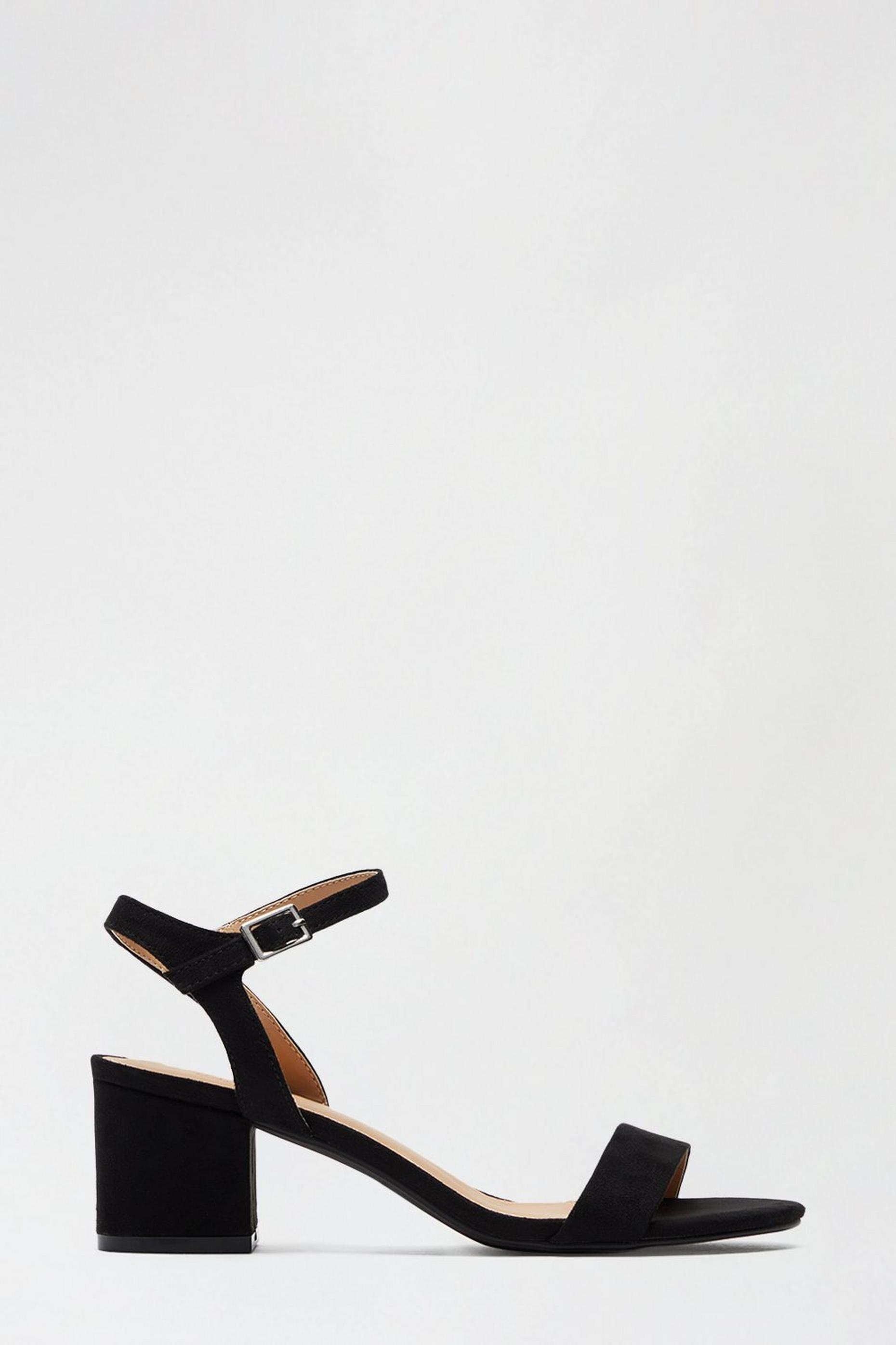 Black Star Low Block Heeled Sandal