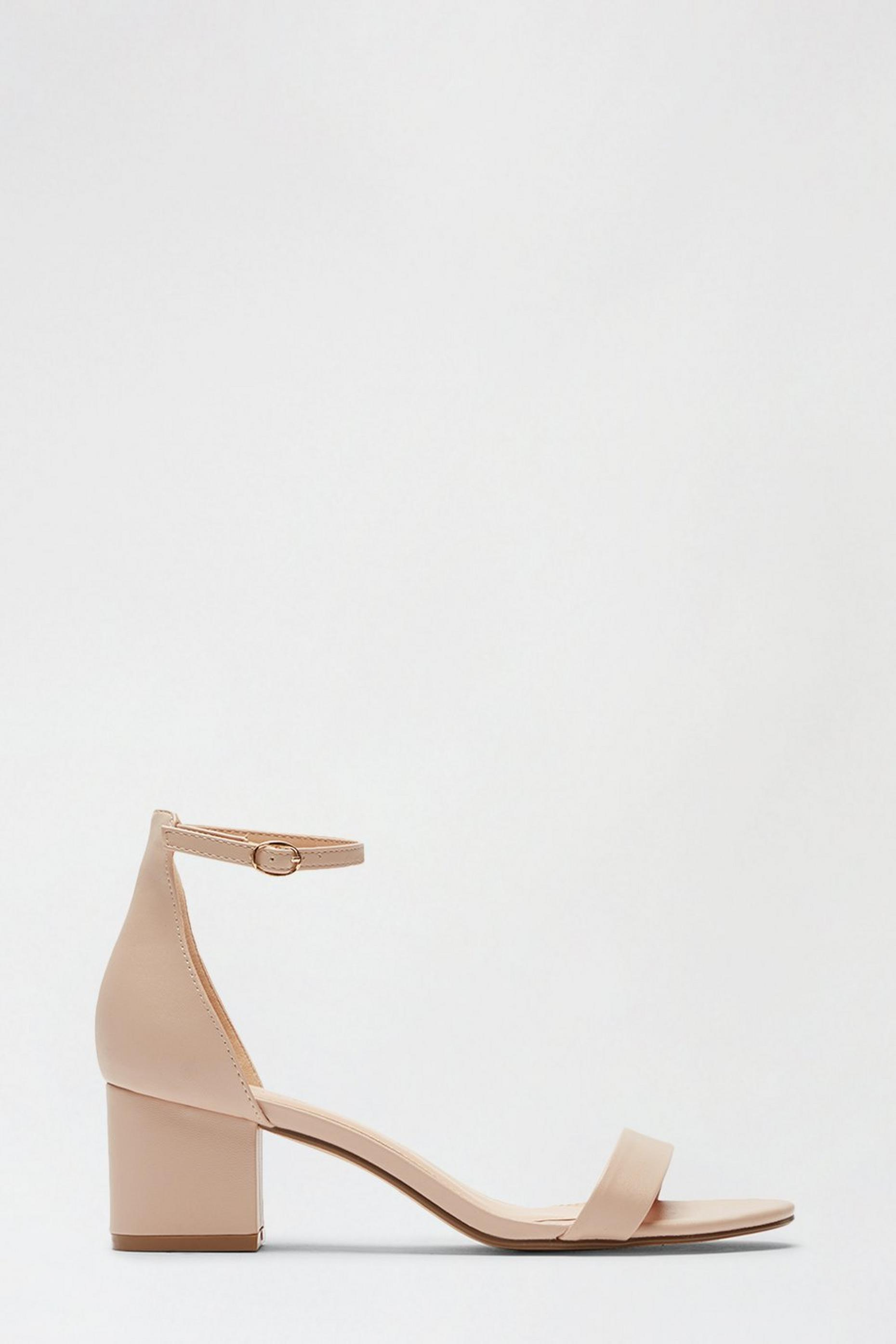Blush Summer Low Block Heeled Sandal