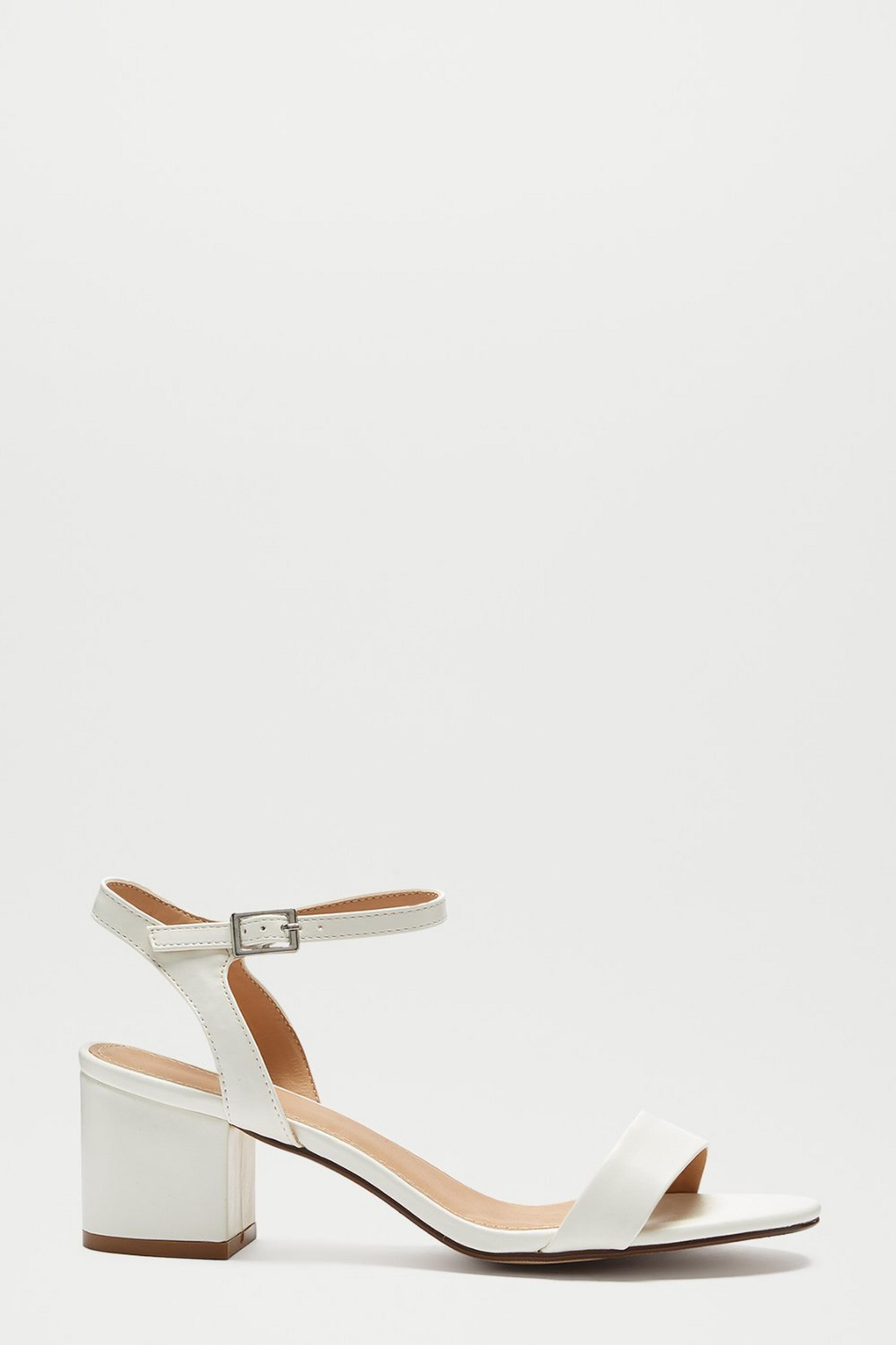 White Star Low Block Heeled Sandal