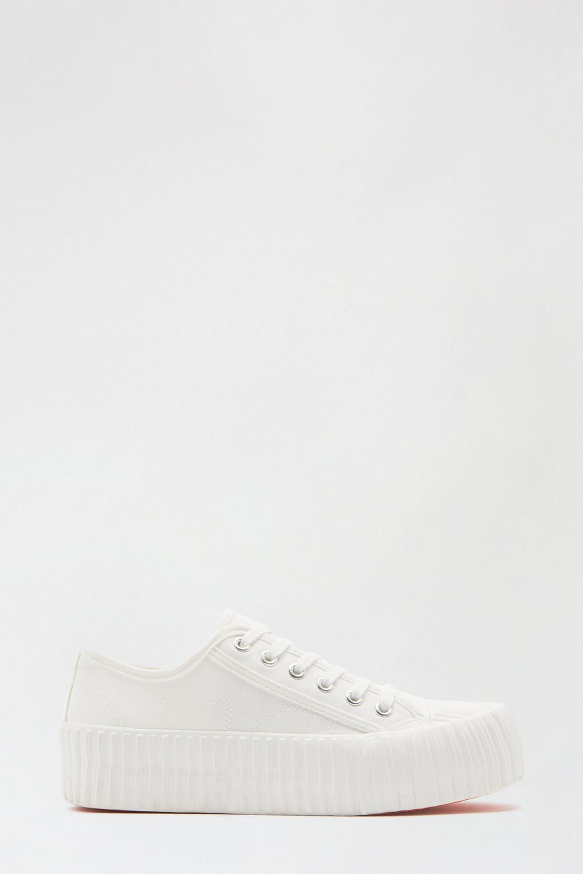 White Neptune Flatform Lace Up Trainer