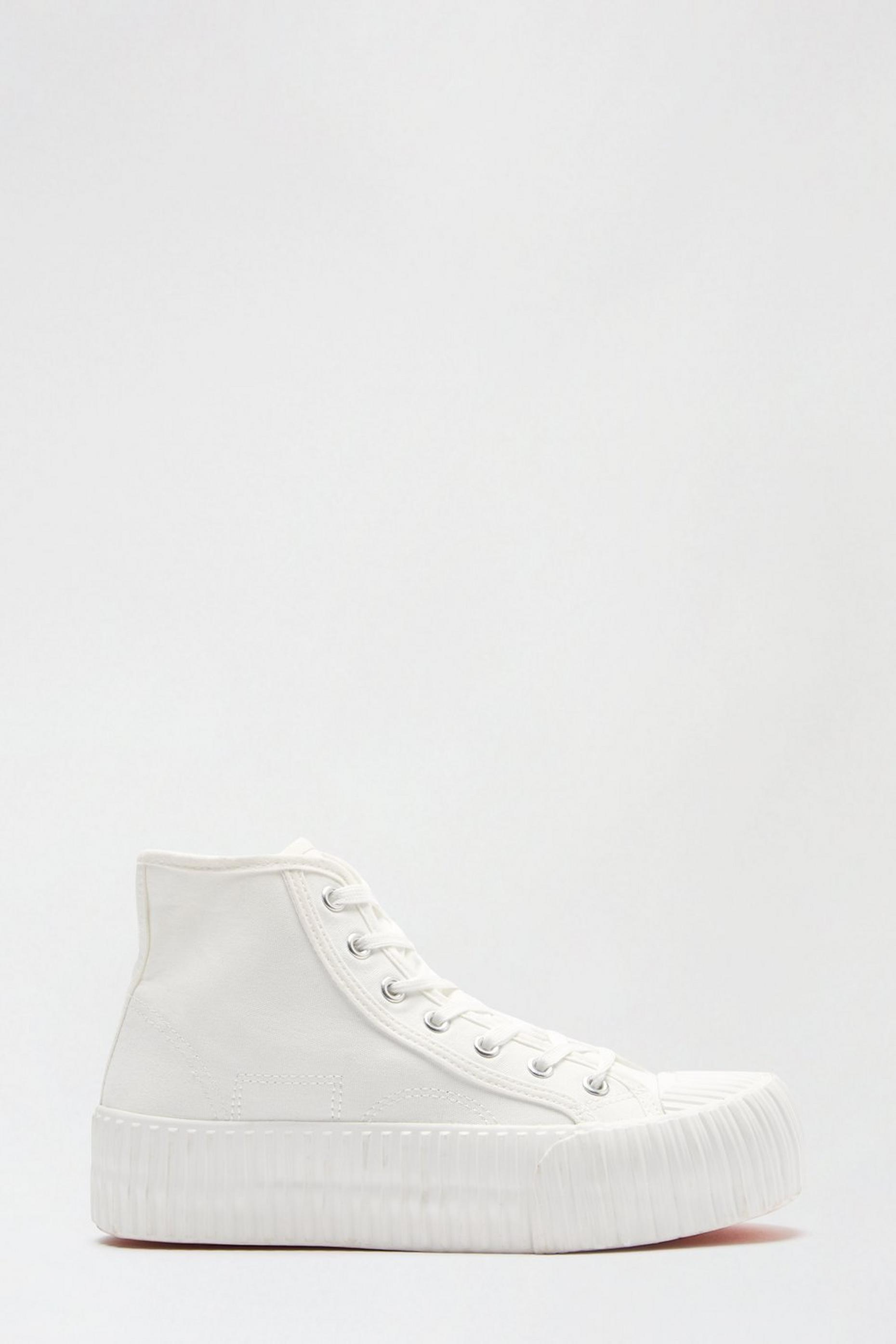 White Nepal Flatform Hightop Trainer