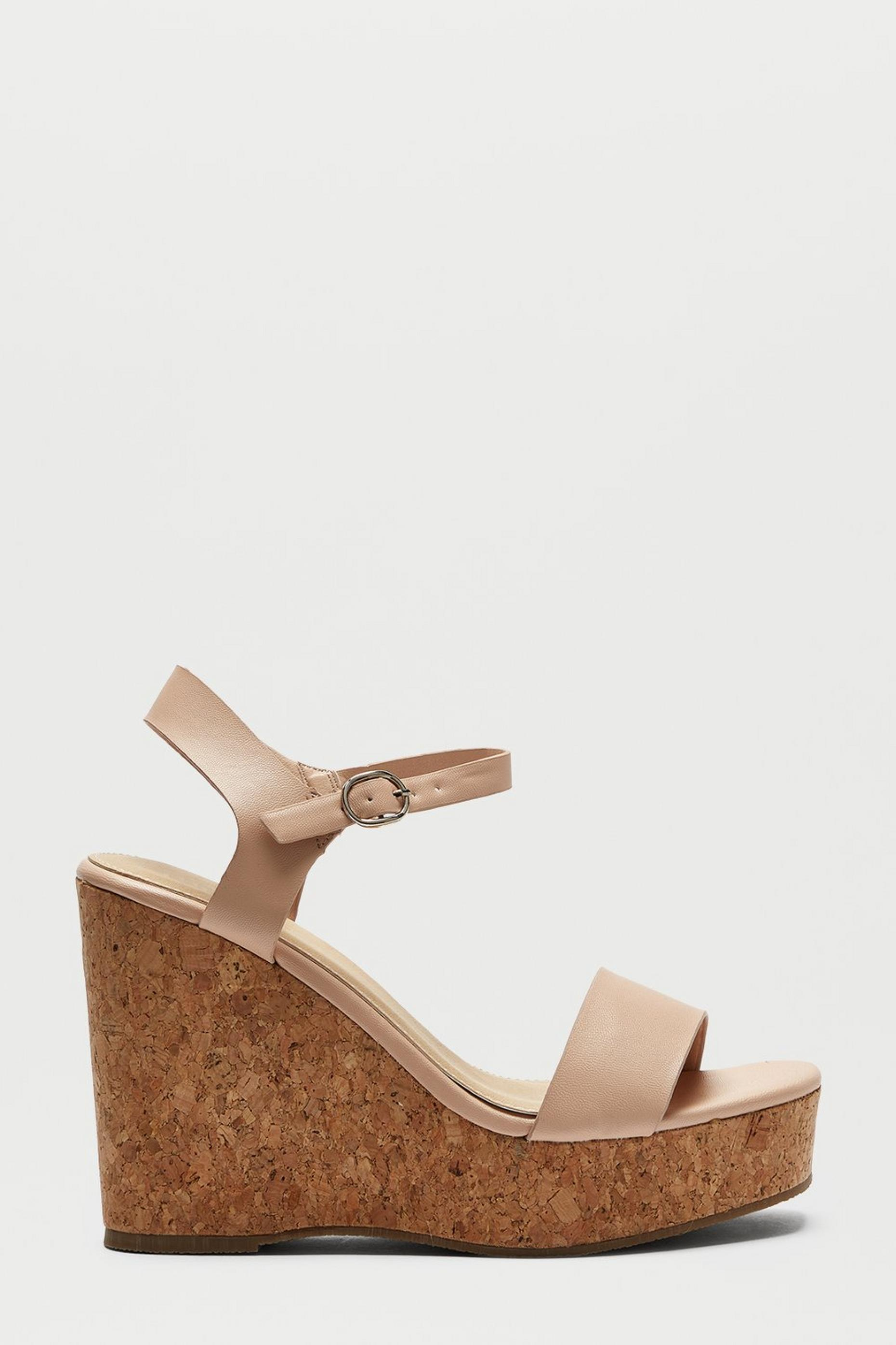 Blush Ryleigh Two Part Cork Wedge