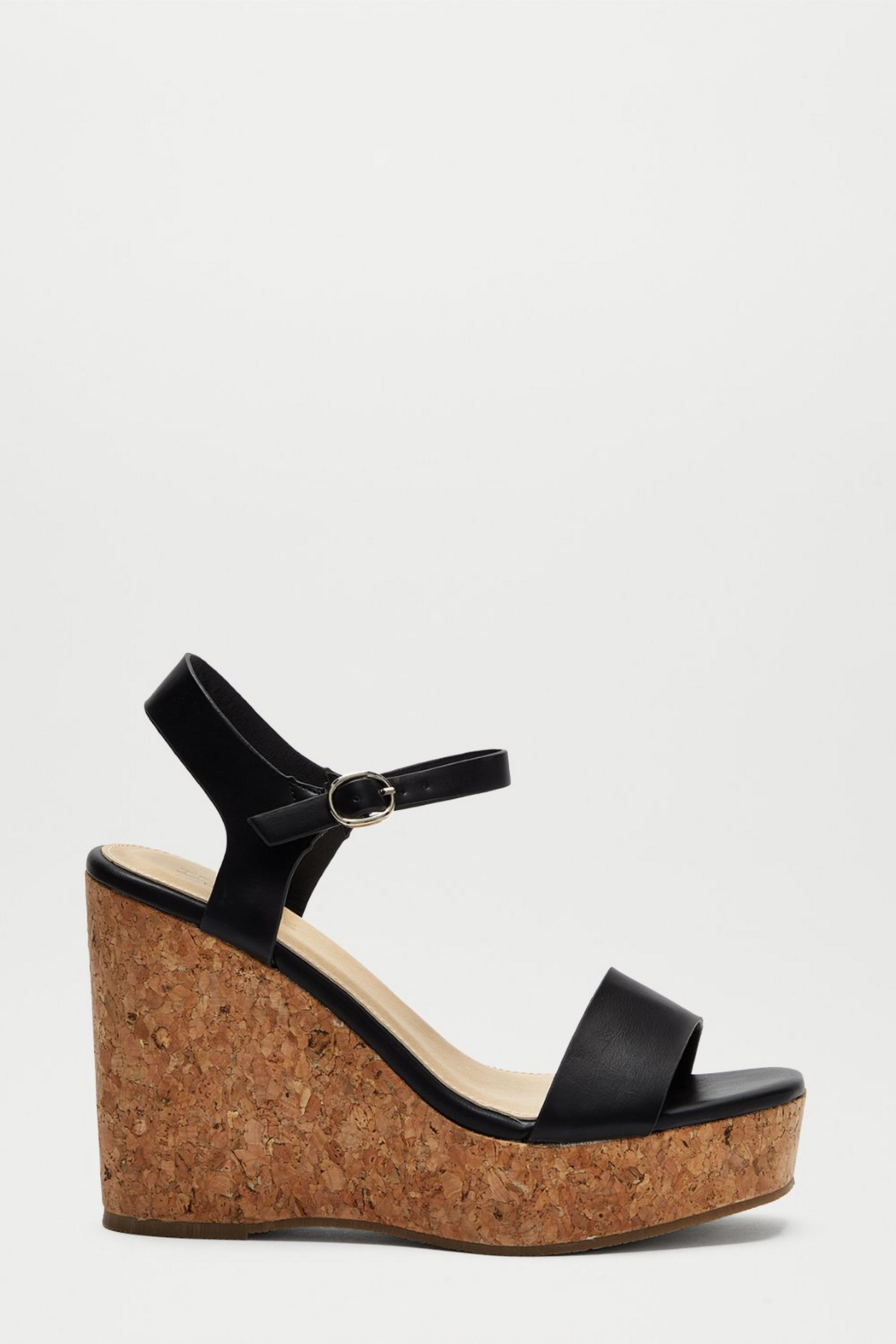 Black Ryleigh Two Part Cork Wedge