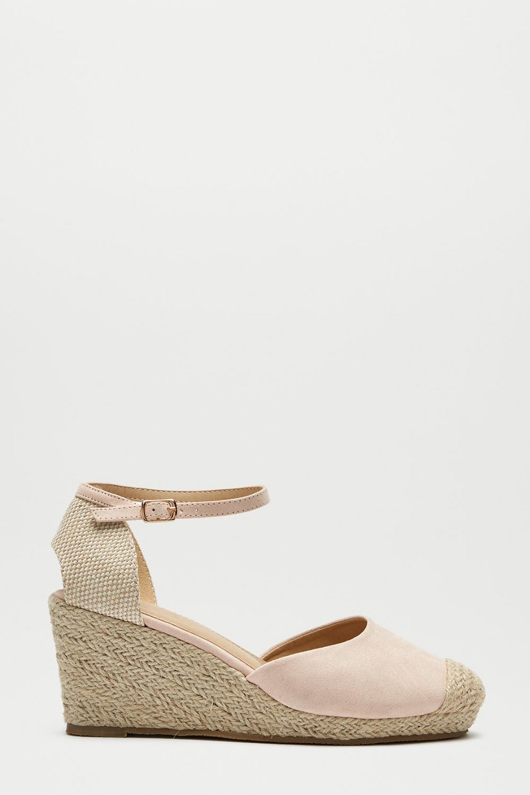 Blush Rowan Two Part Espadrille Wedge