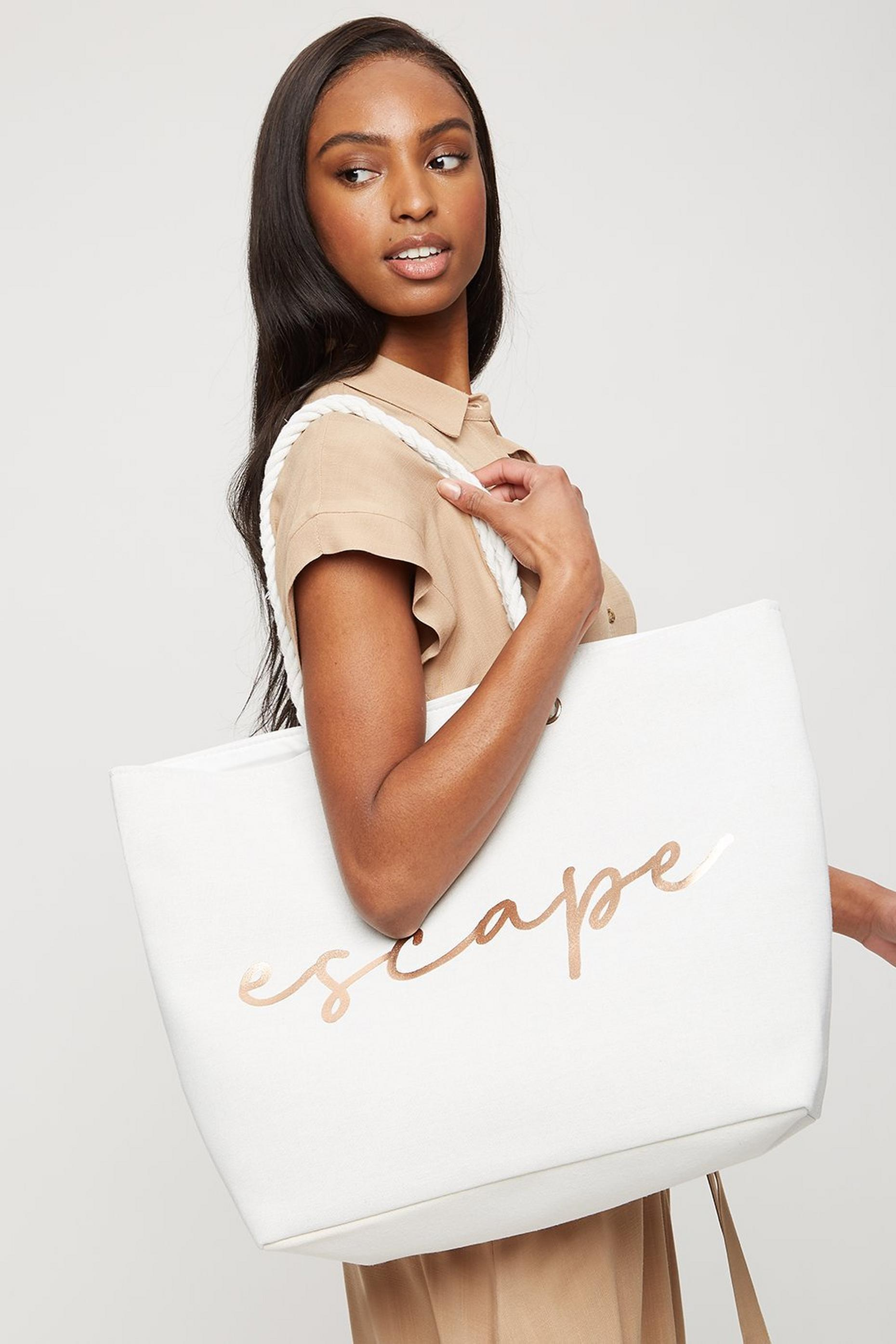 Southbeach 'Escape' Slogan Beach Bag