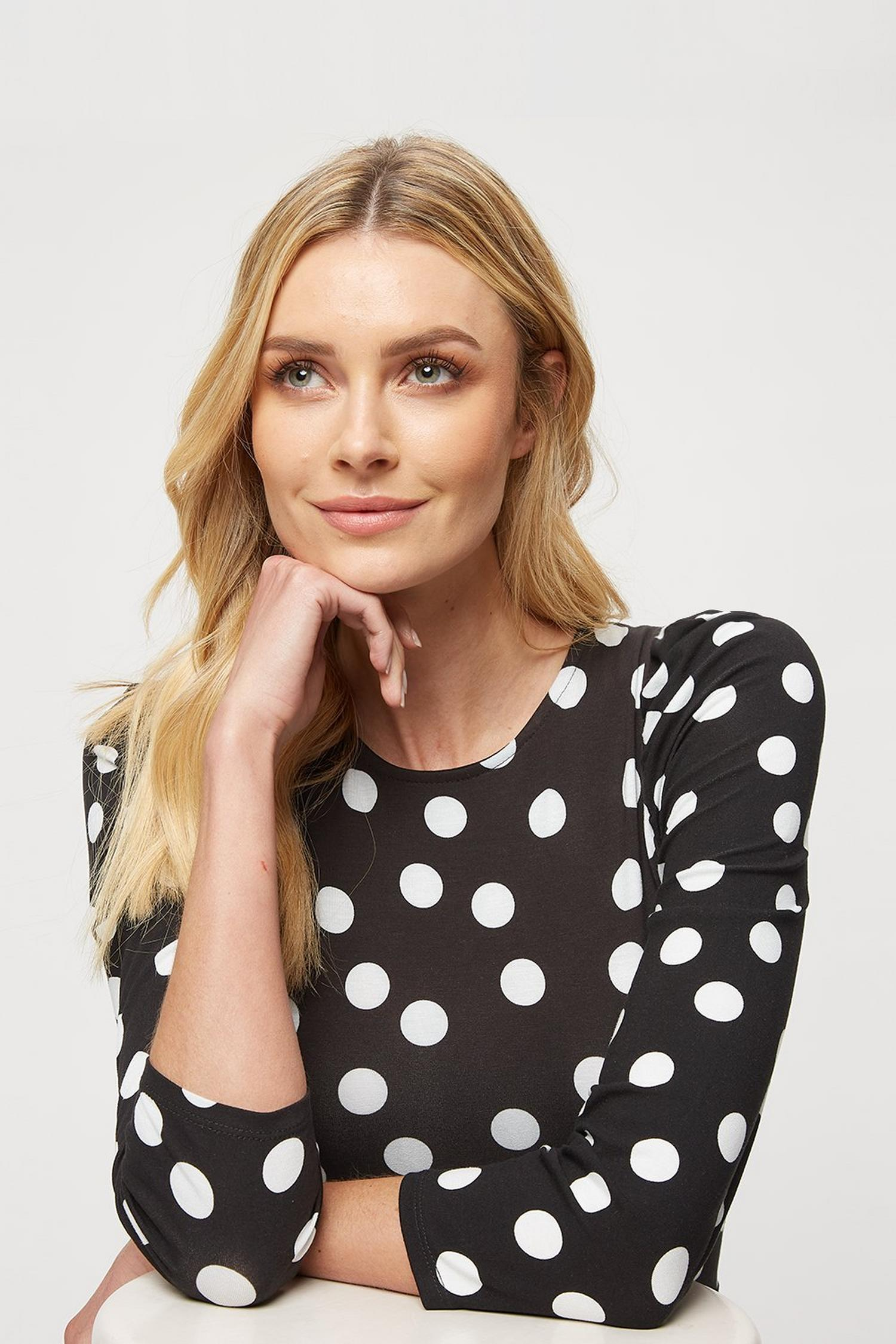 105 Black Spot Fit And Flare Dress image number 4