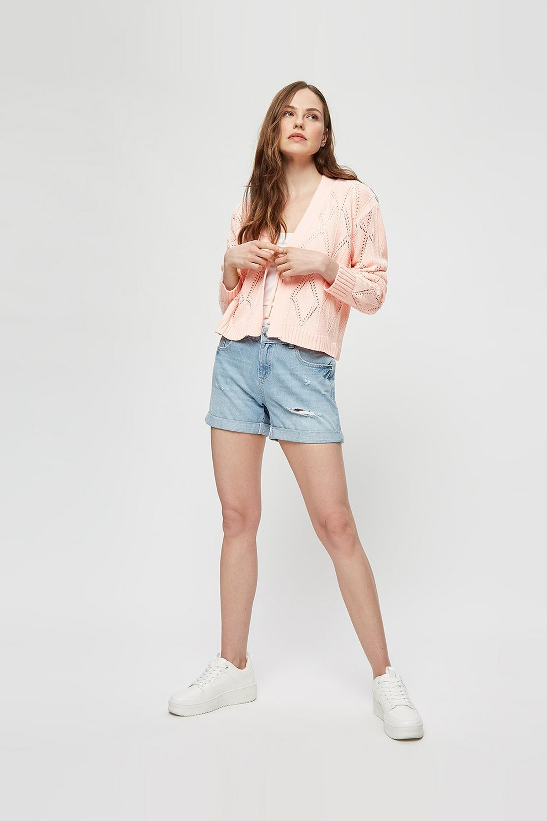 Blush Tie Detail Cable Cardigan