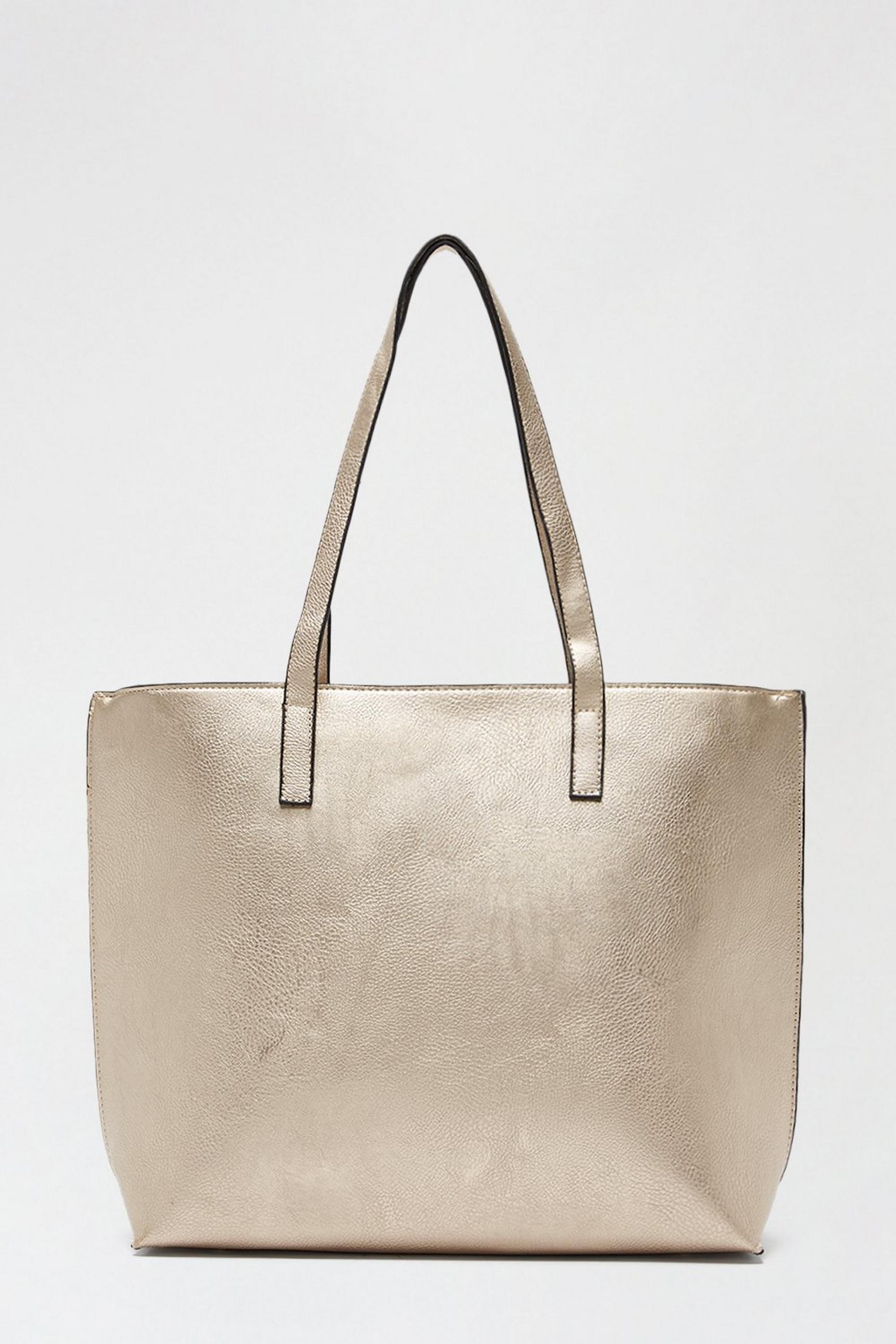 Metallic Gold Shopper Bag