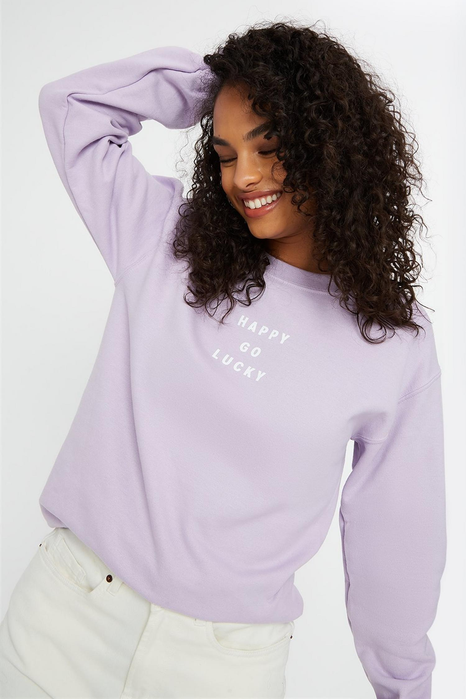 137 Happy Go Lucky Logo Sweat image number 1