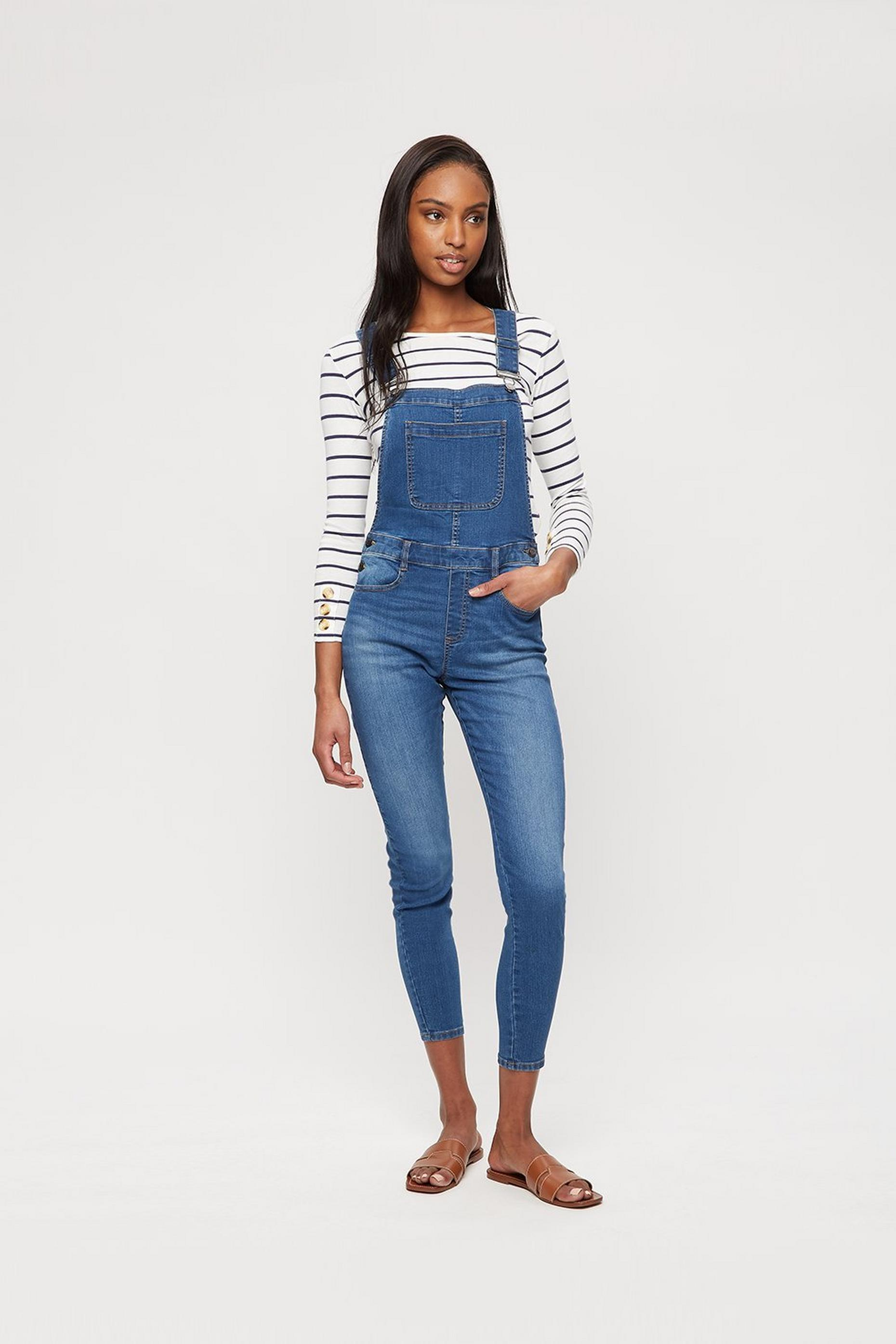 Midwash Casual Skinny Dungaree