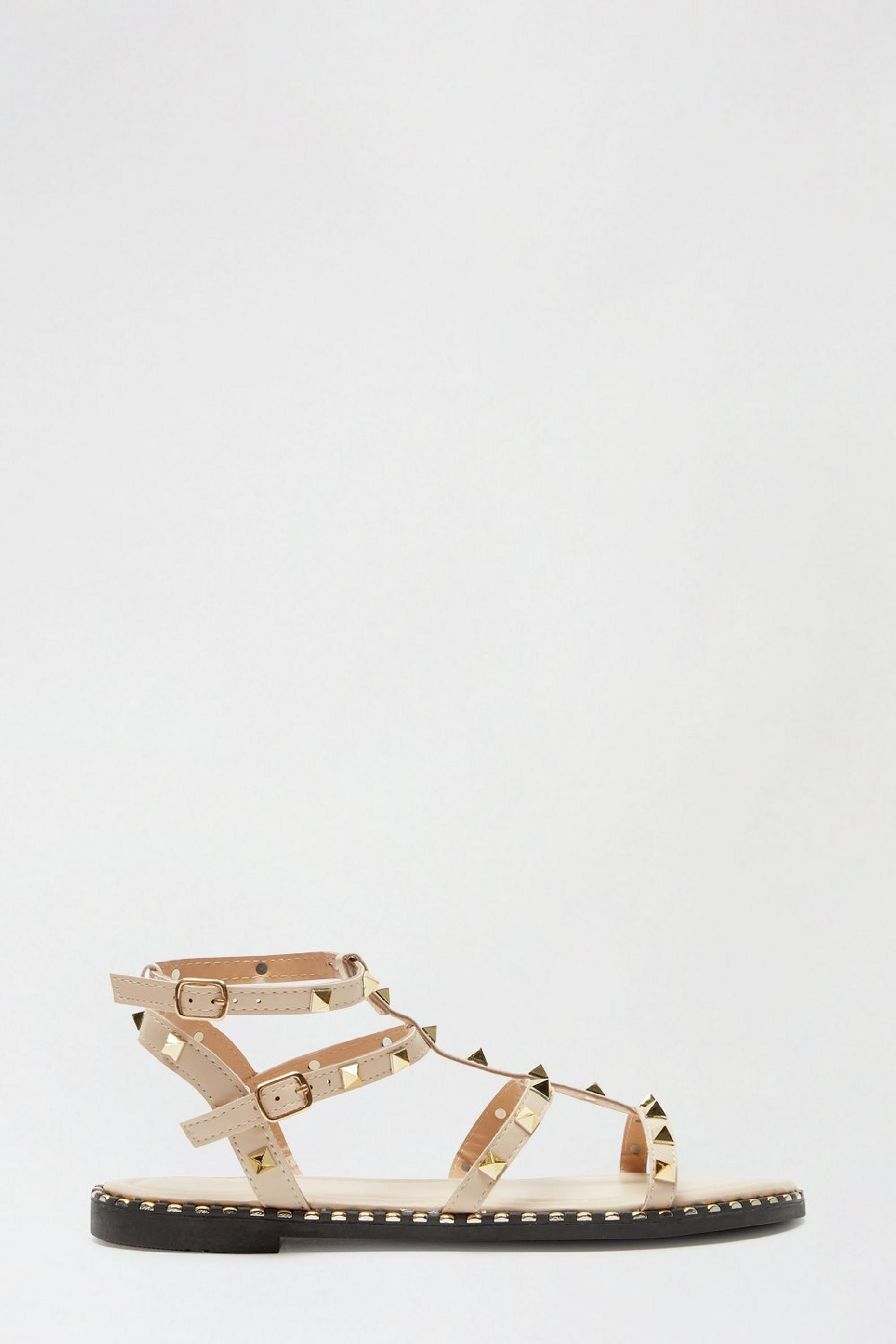 Blush Favour Studded Gladiator Sandal
