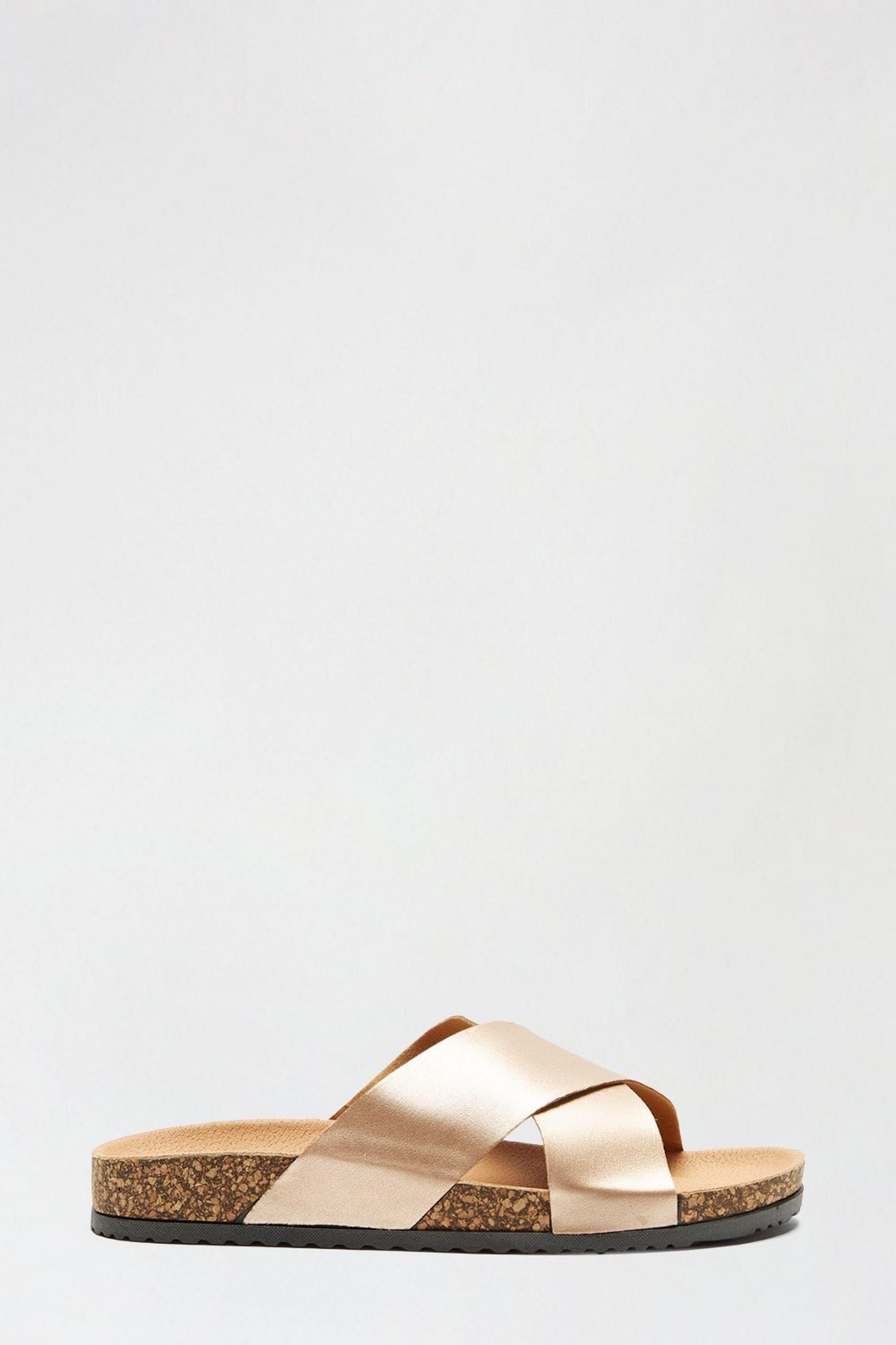 Rosegold France Crossover Footbed Sandal