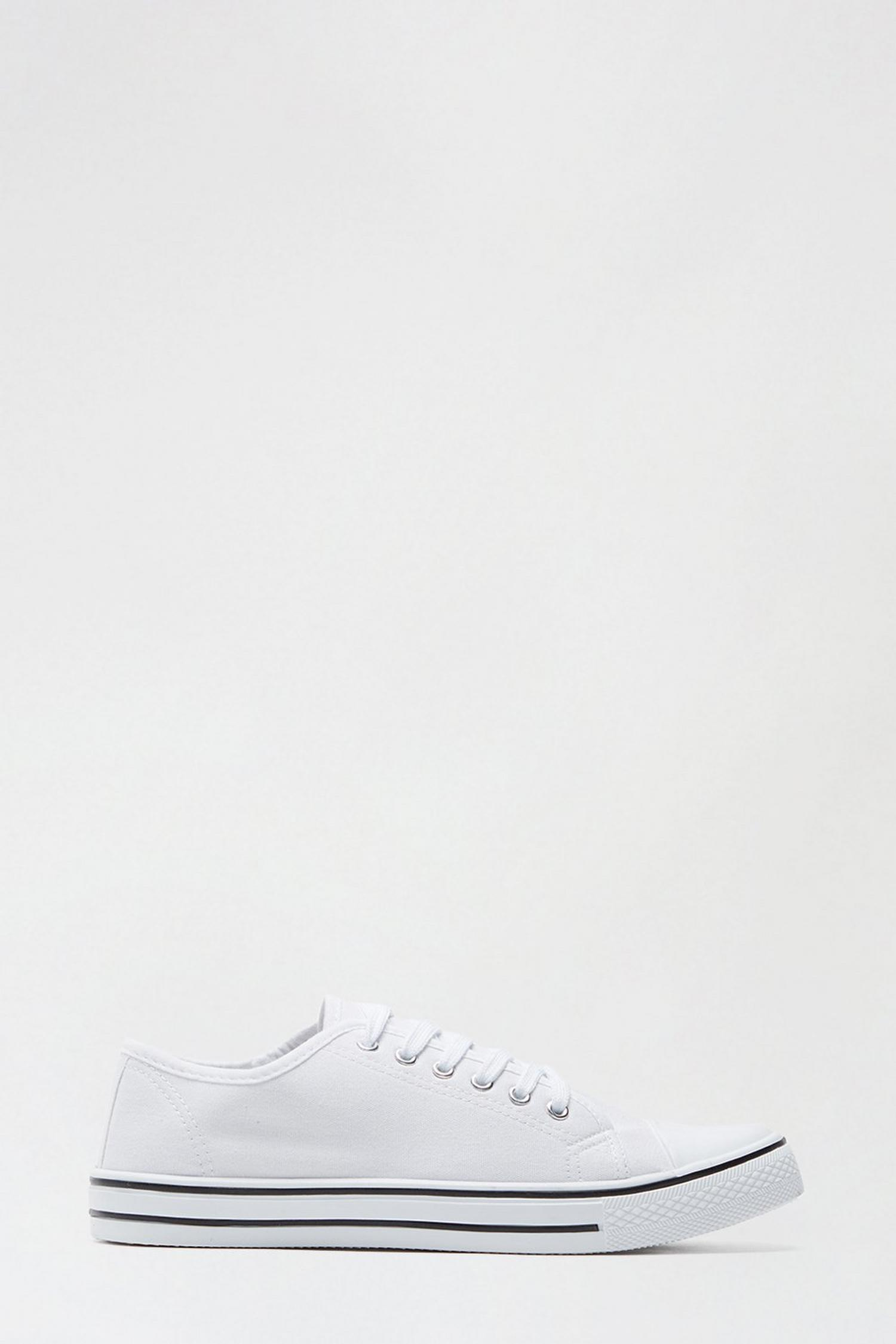 173 White India Canvas Lace Up Trainer image number 1