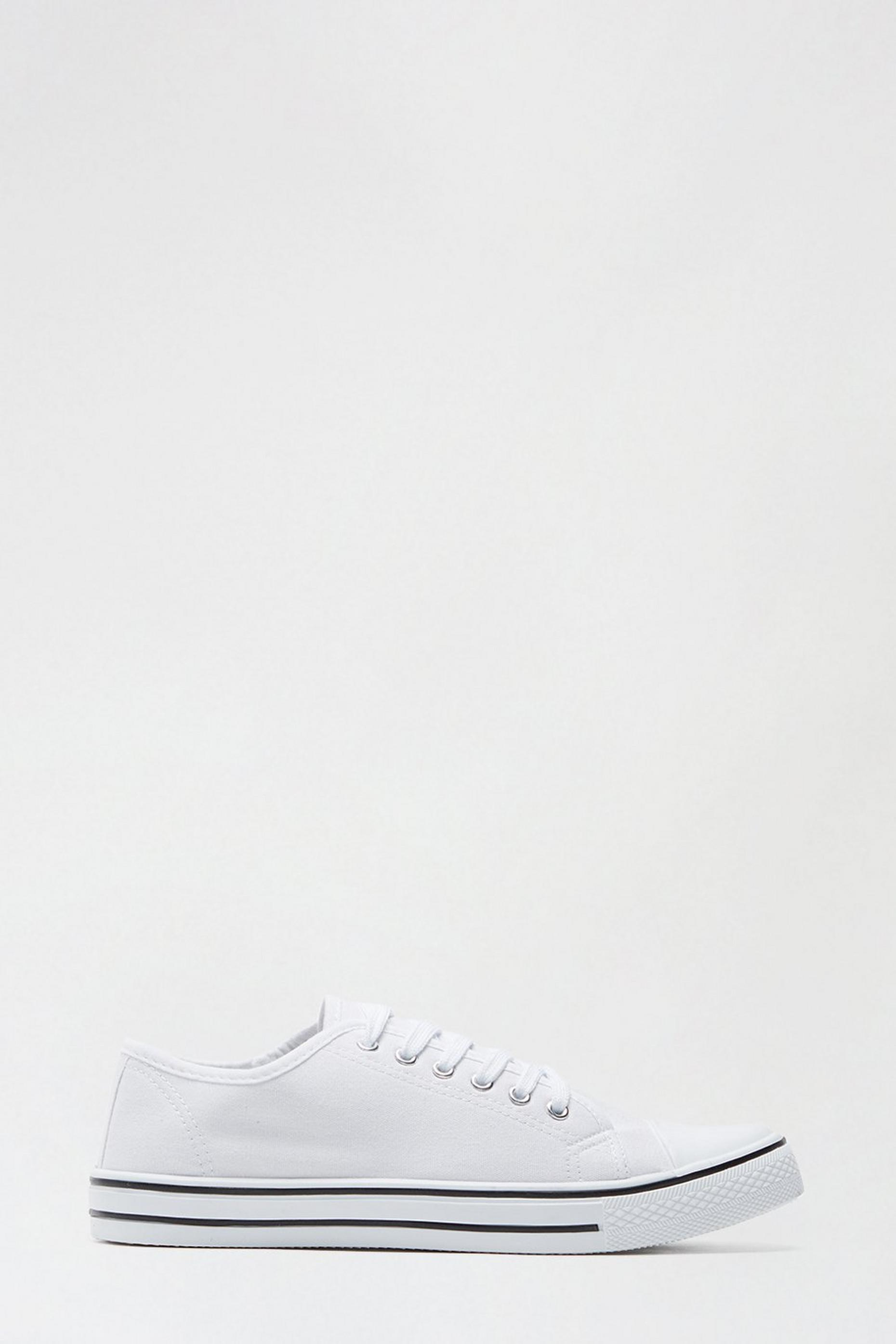 White India Canvas Lace Up Trainer