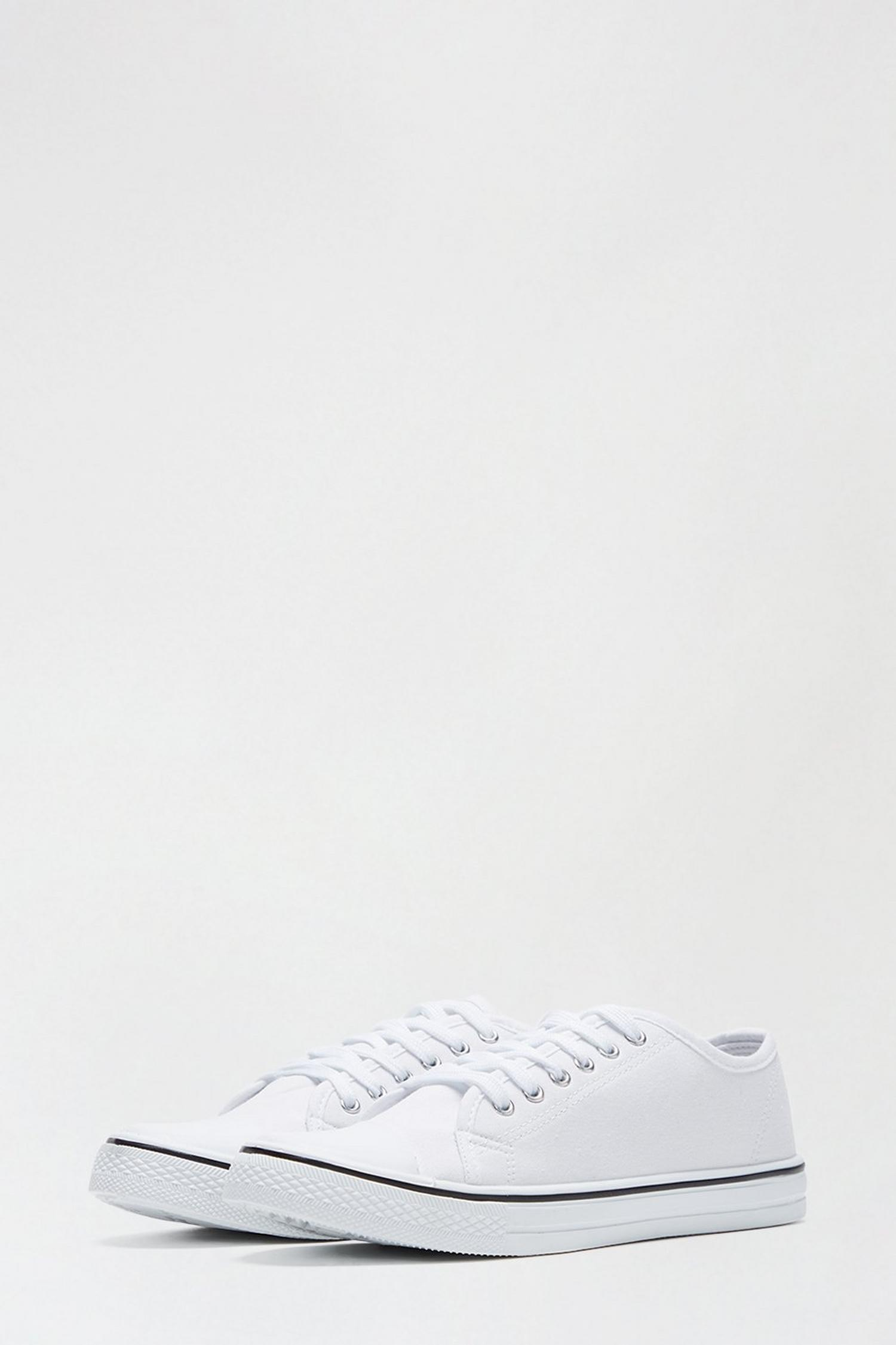 173 White India Canvas Lace Up Trainer image number 2