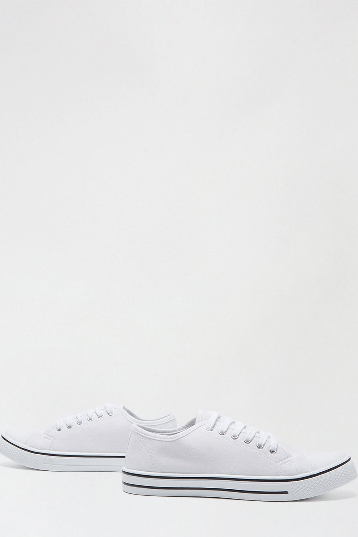 173 White India Canvas Lace Up Trainer image number 3