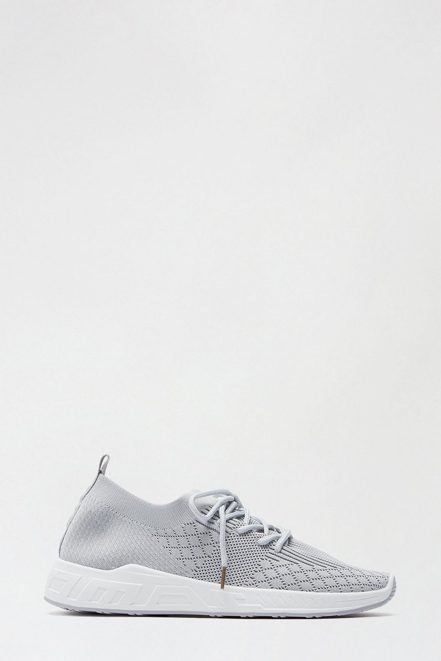 131 Grey Ivanna Knit Sports Trainer image number 1