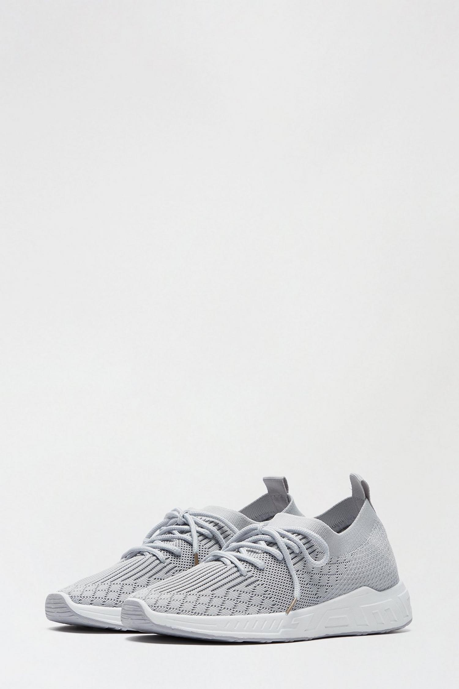 131 Grey Ivanna Knit Sports Trainer image number 2