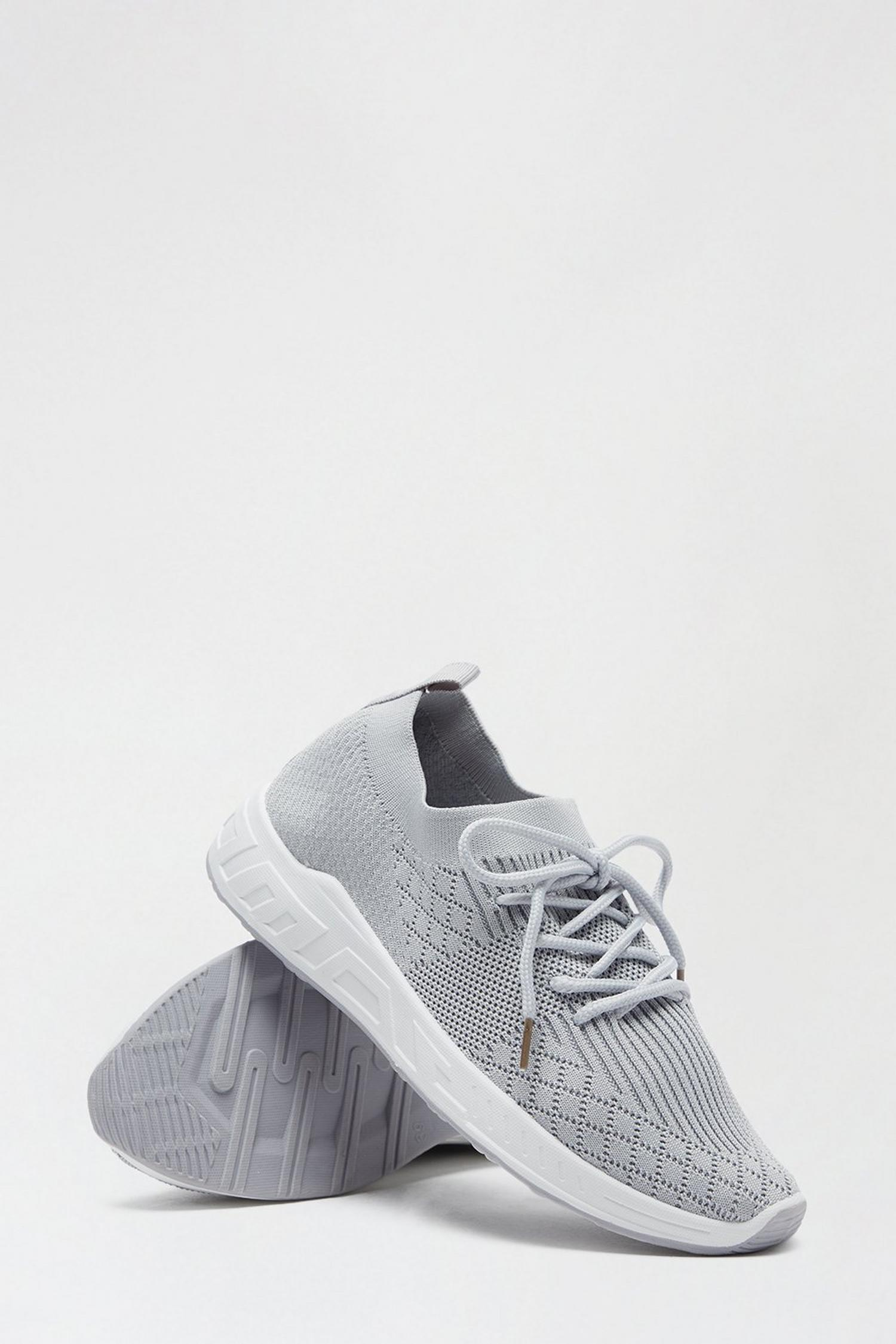 131 Grey Ivanna Knit Sports Trainer image number 4