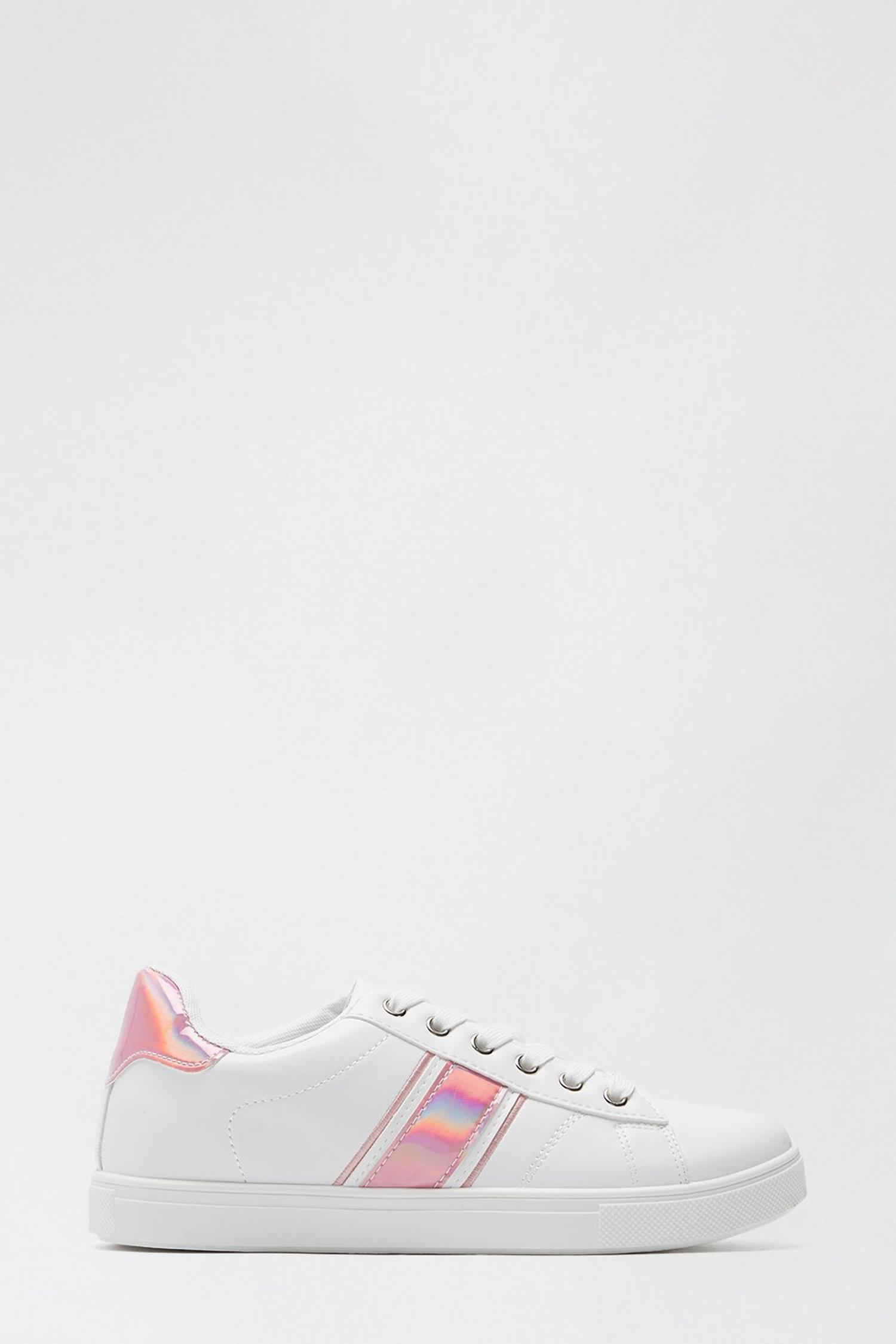 155 Pink 'Isle' Side Stripe Trainer image number 1