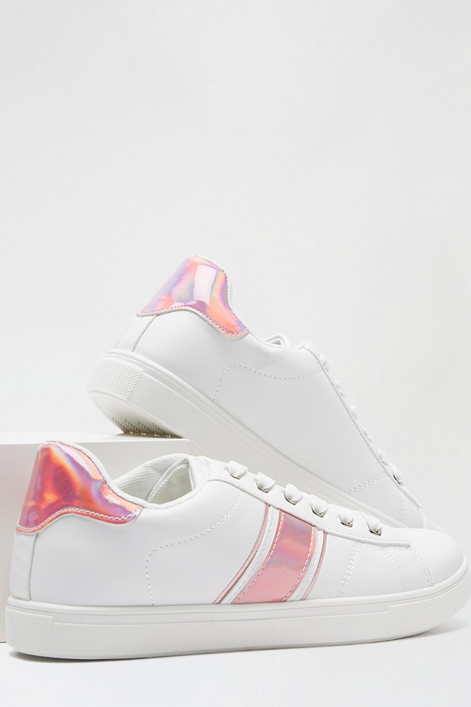 155 Pink 'Isle' Side Stripe Trainer image number 3