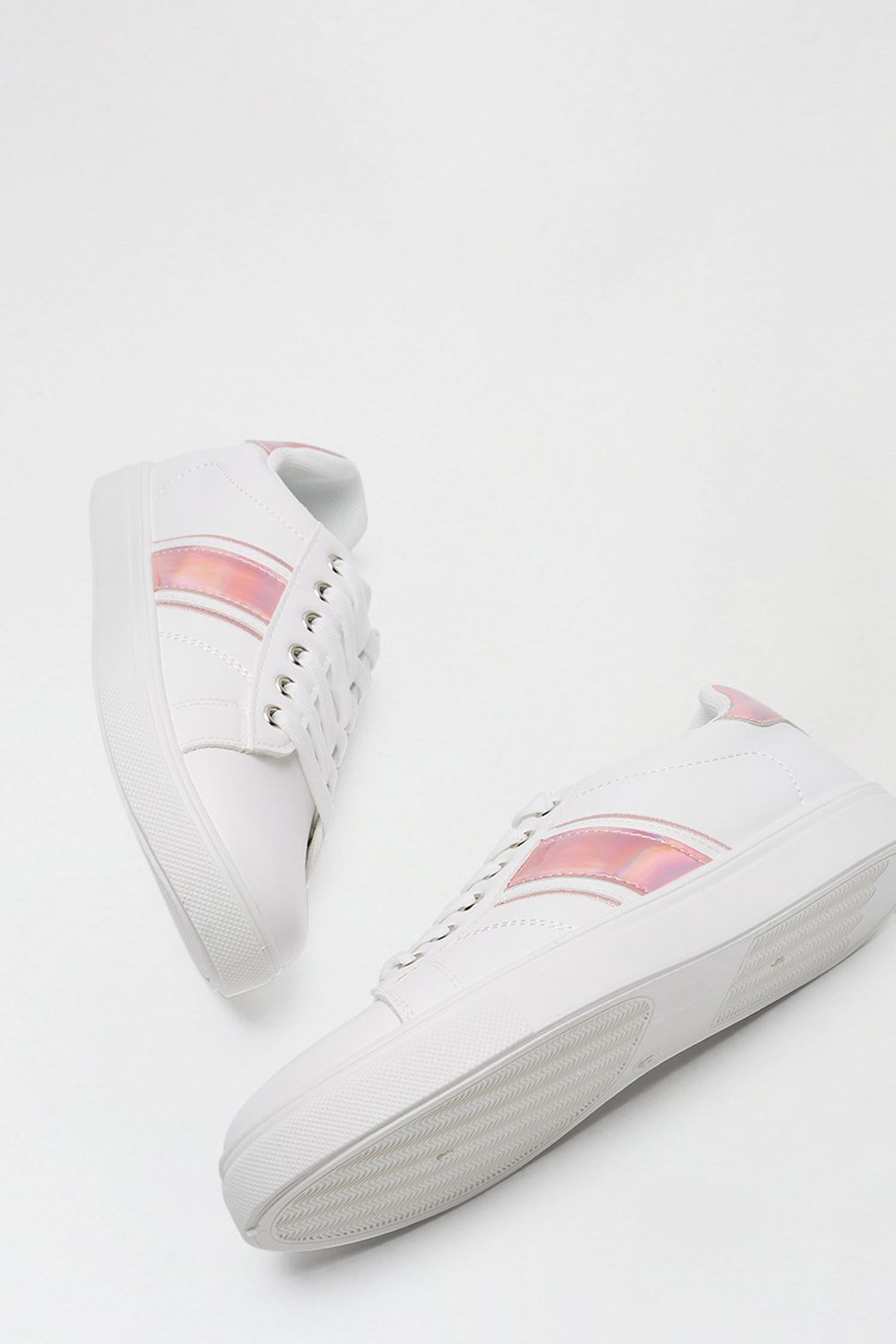 155 Pink 'Isle' Side Stripe Trainer image number 4