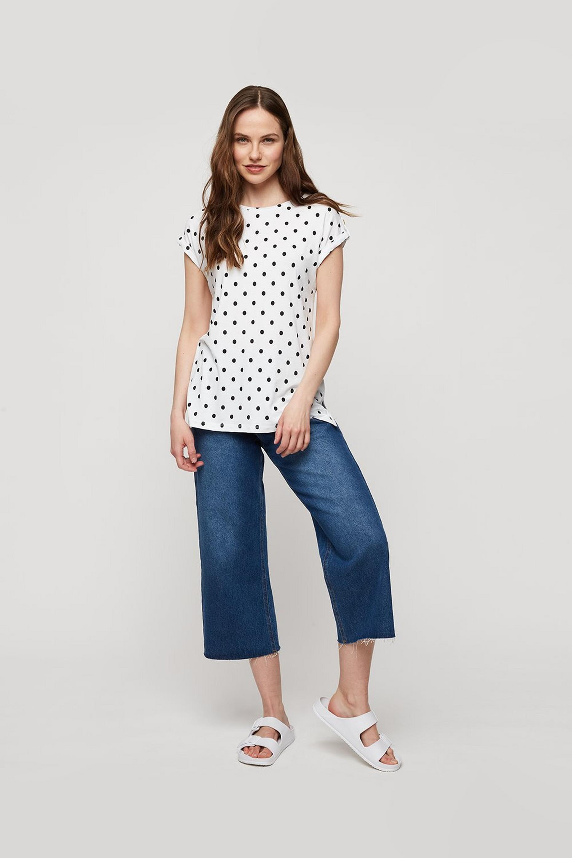 Ivory Spot Button T-shirt