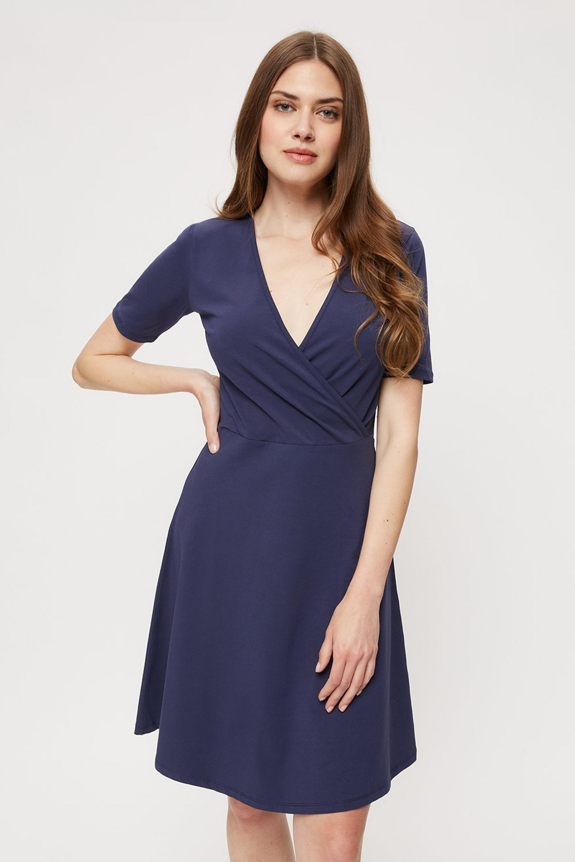 Tall Navy Wrap Dress