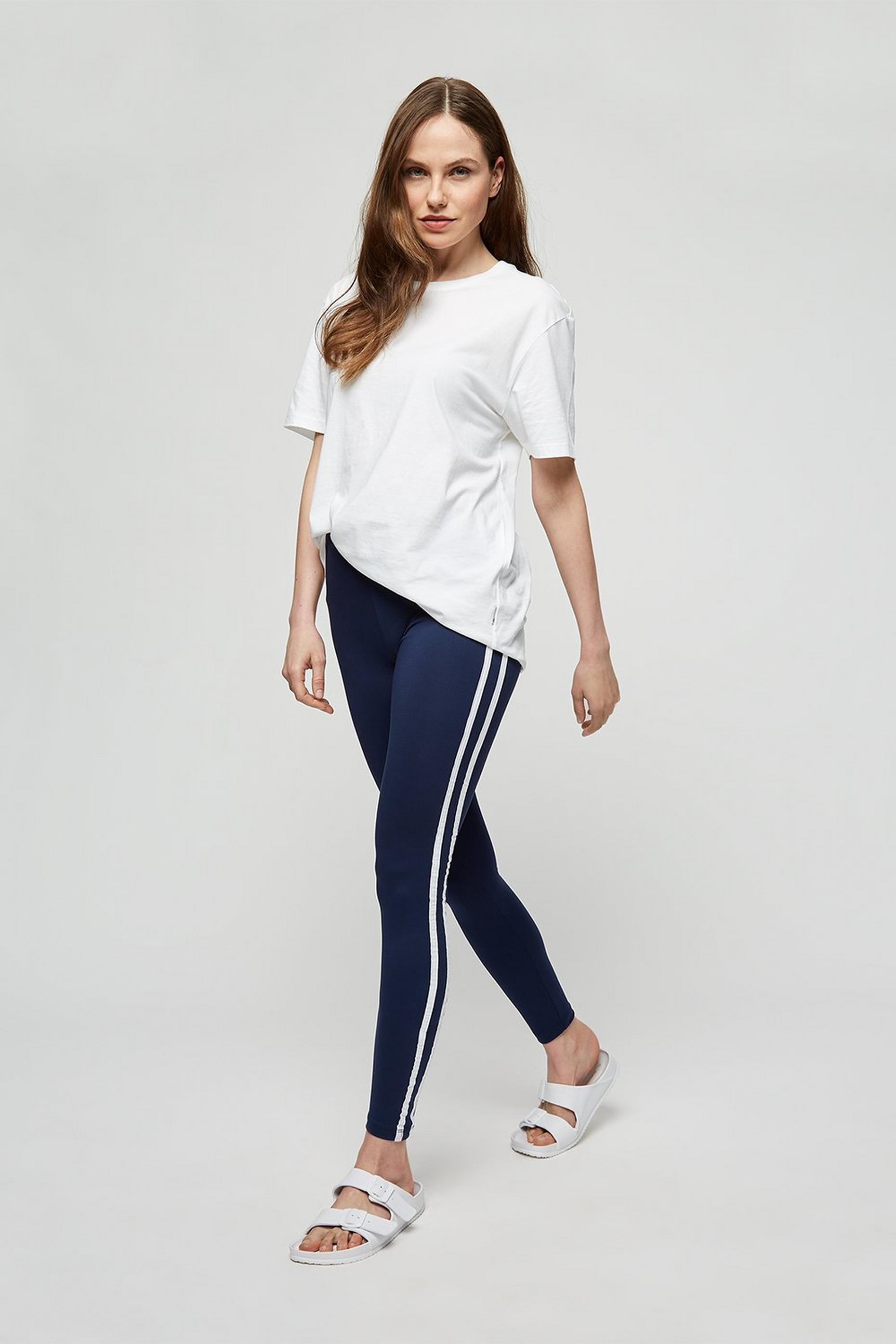 Navy Side Stripe Legging