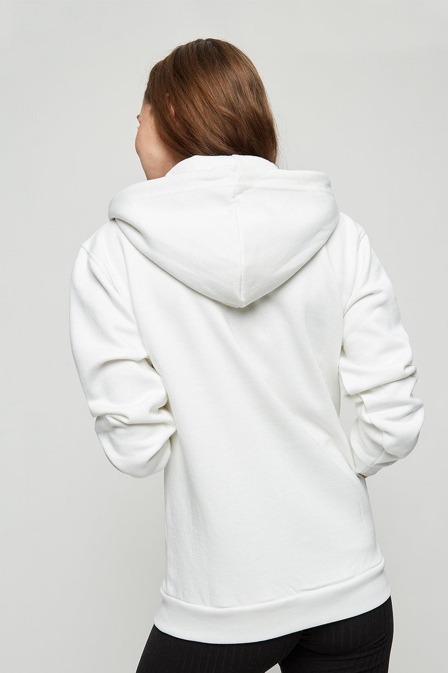 173 White Zip Up Hoody image number 3