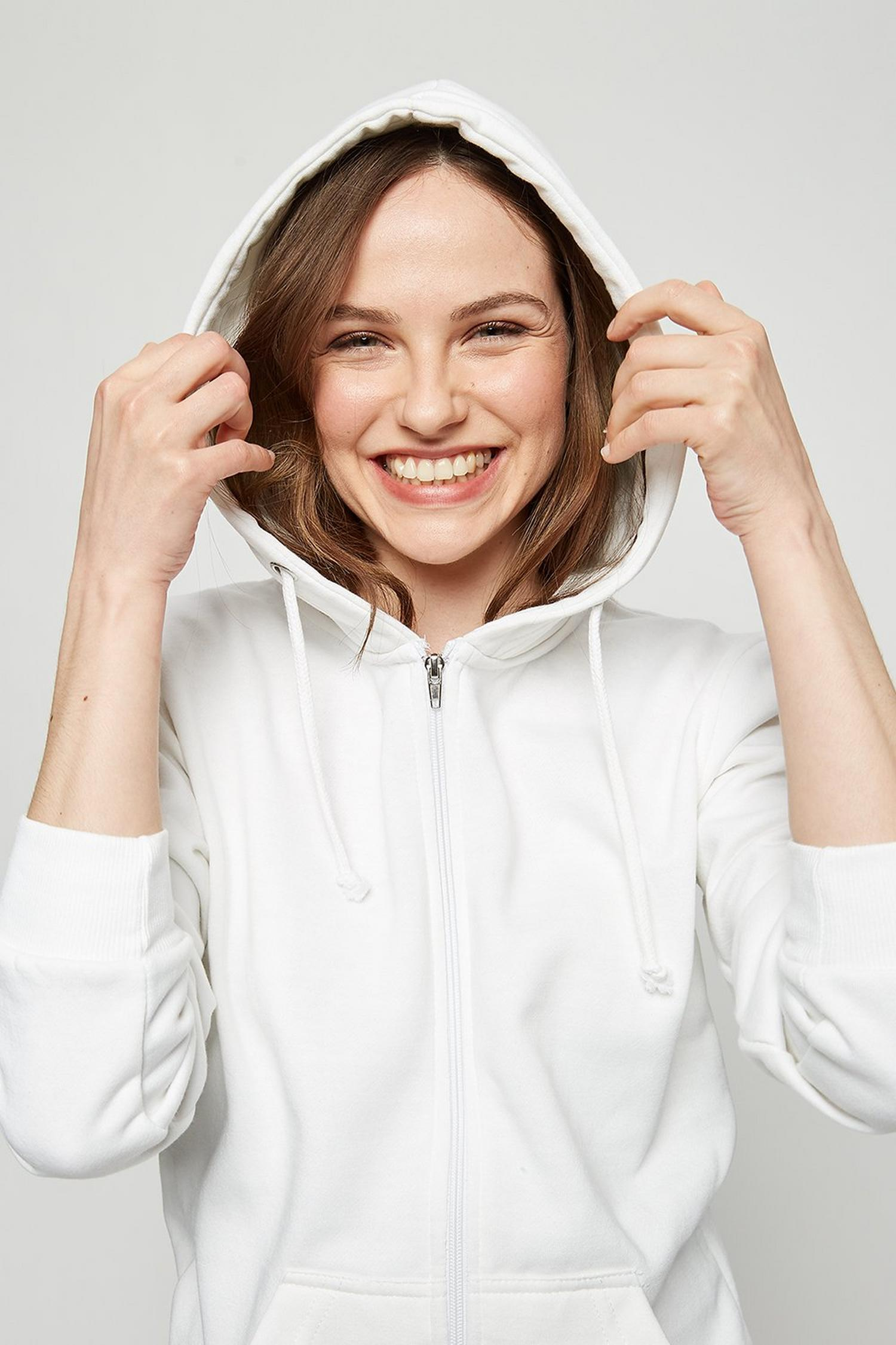 173 White Zip Up Hoody image number 4