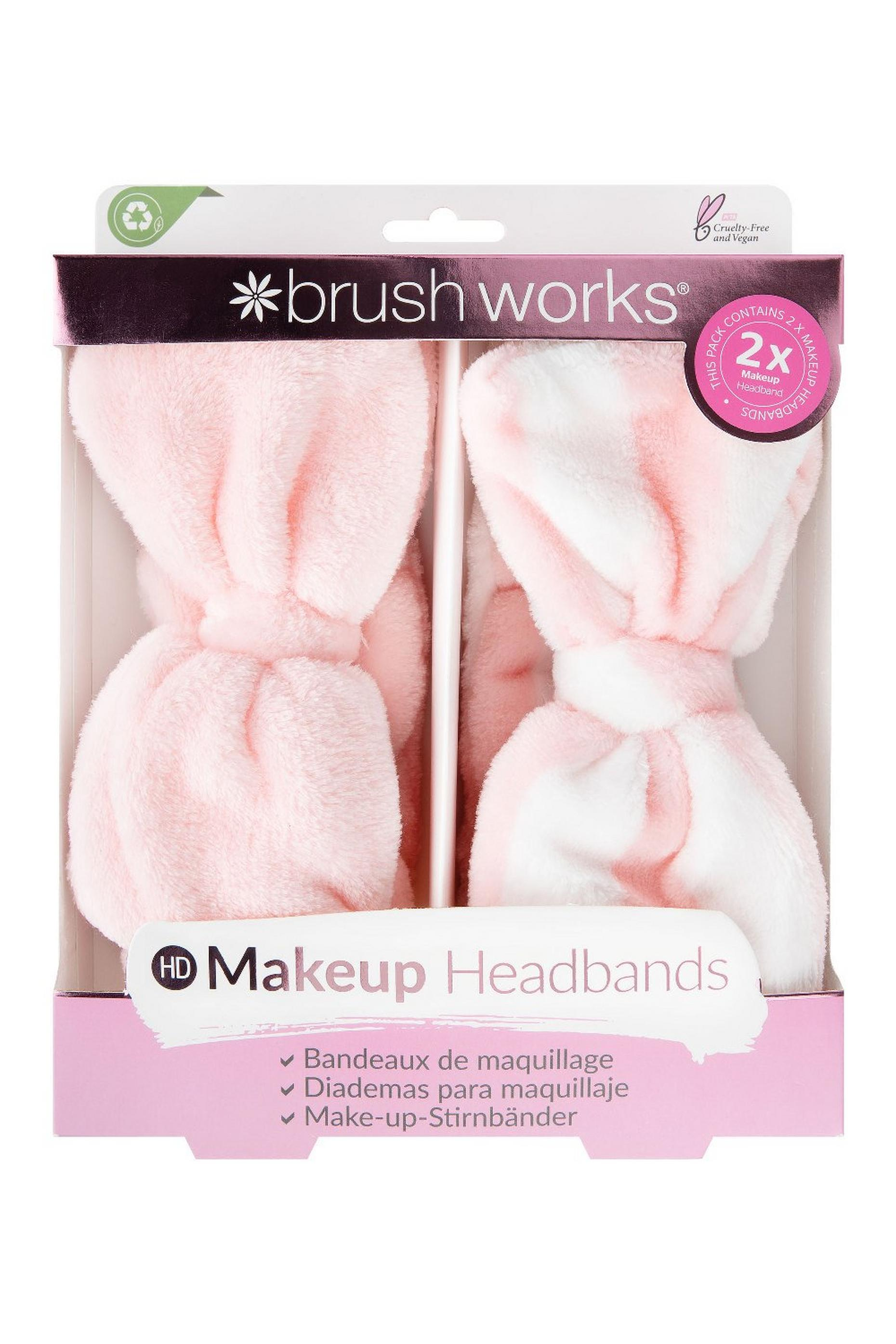 Brushworks Makeup Headbands - 2 Pack