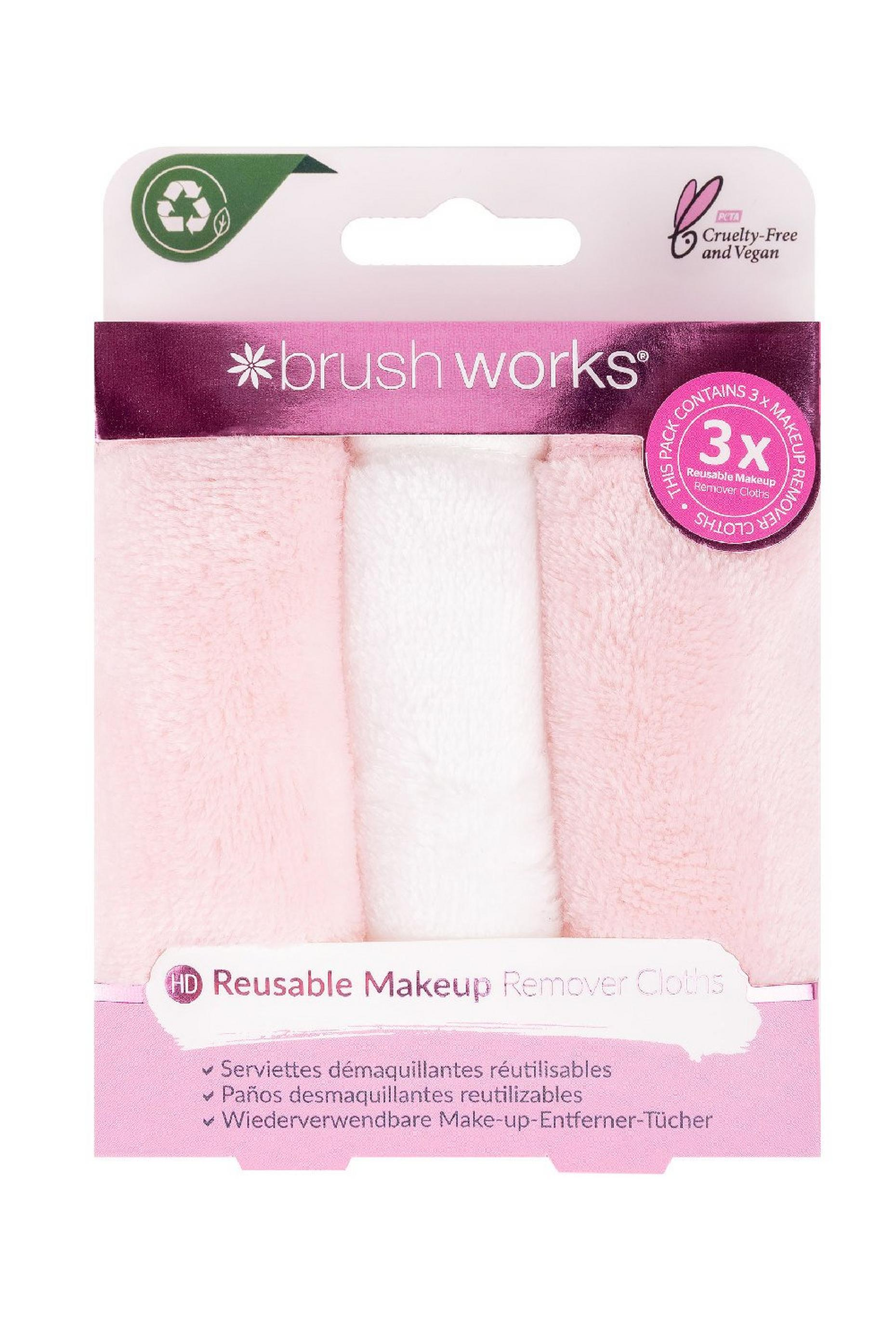 Brushworks Makeup Remover Cloths - 3 Pack