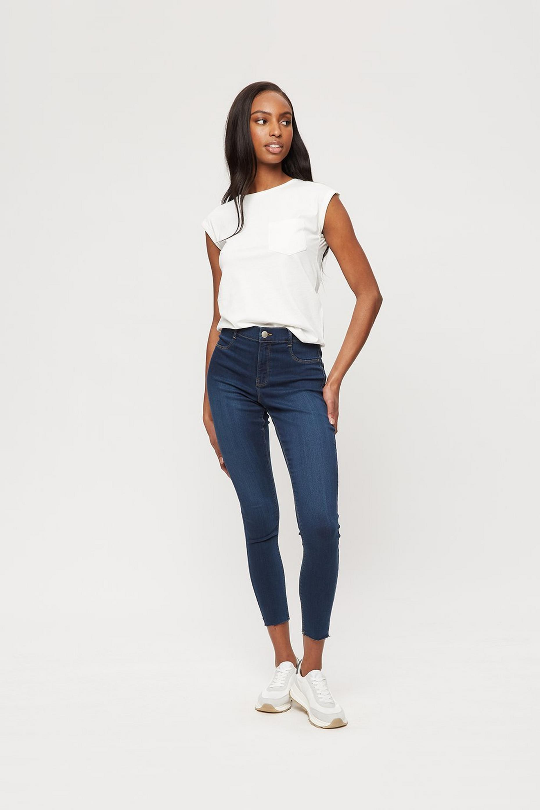 Indigo Frankie Jean With Raw Hem