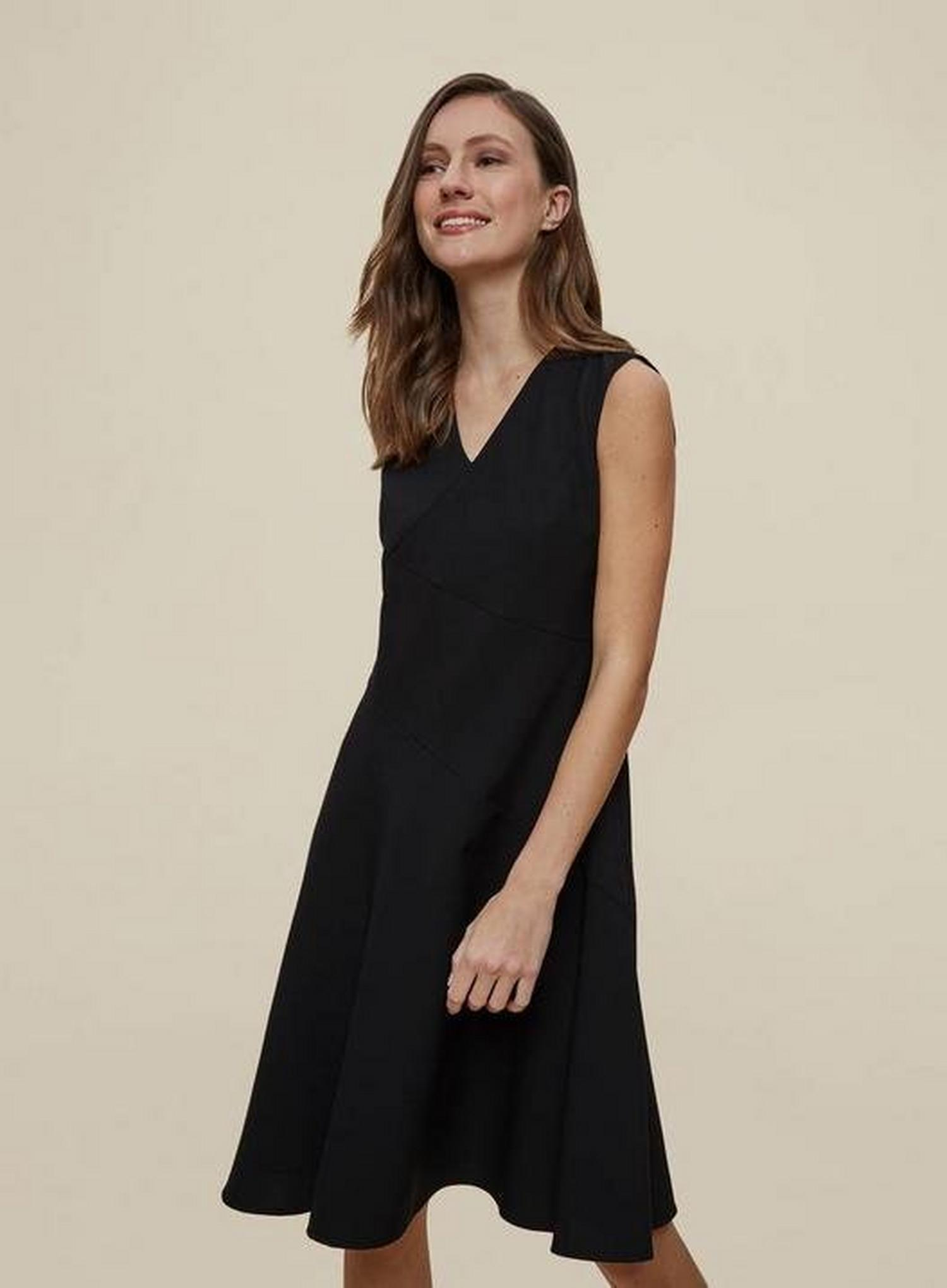 105 Black Fit And Flare Tailored Dress image number 2