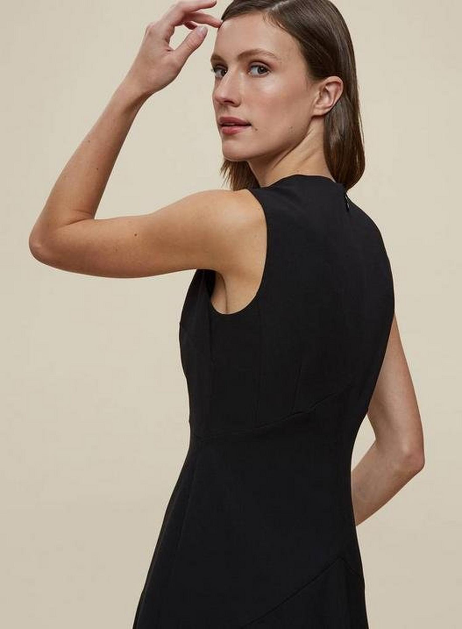 105 Black Fit And Flare Tailored Dress image number 4